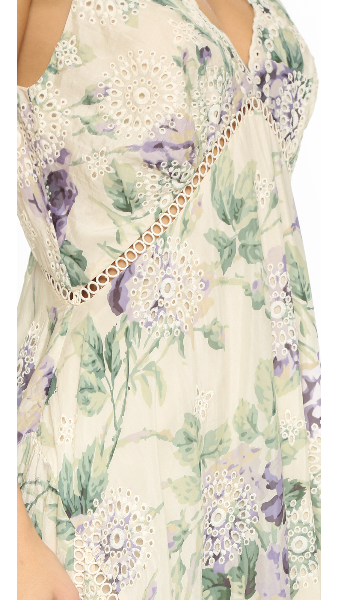 Lyst zimmermann lucia embroidered floral dress