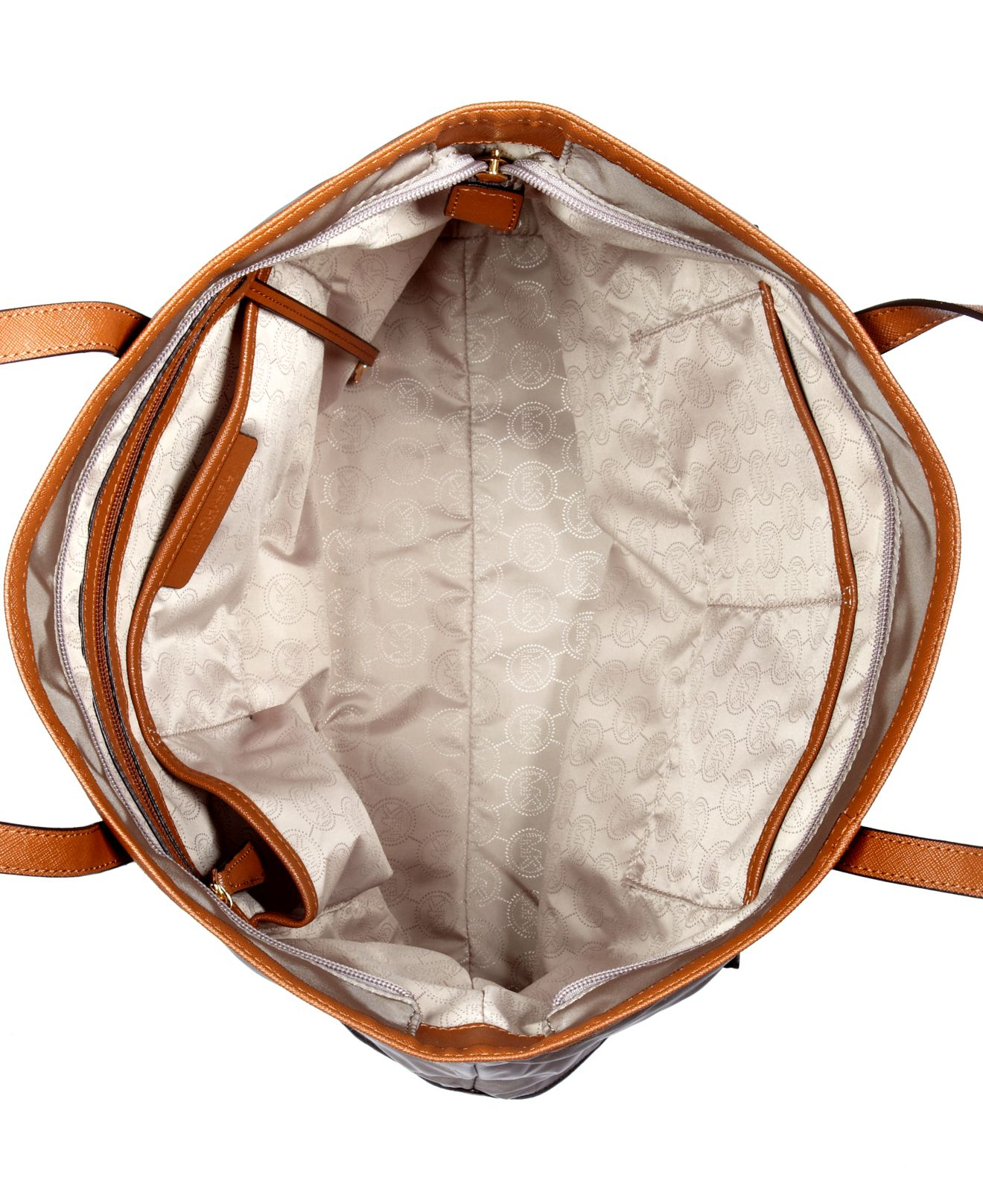 Bolsa Michael Kors Nylon : Michael kors kempton nylon large tote in metallic