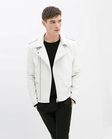 Zara Faux Leather Jacket Men Cheap Online Clothing Stores