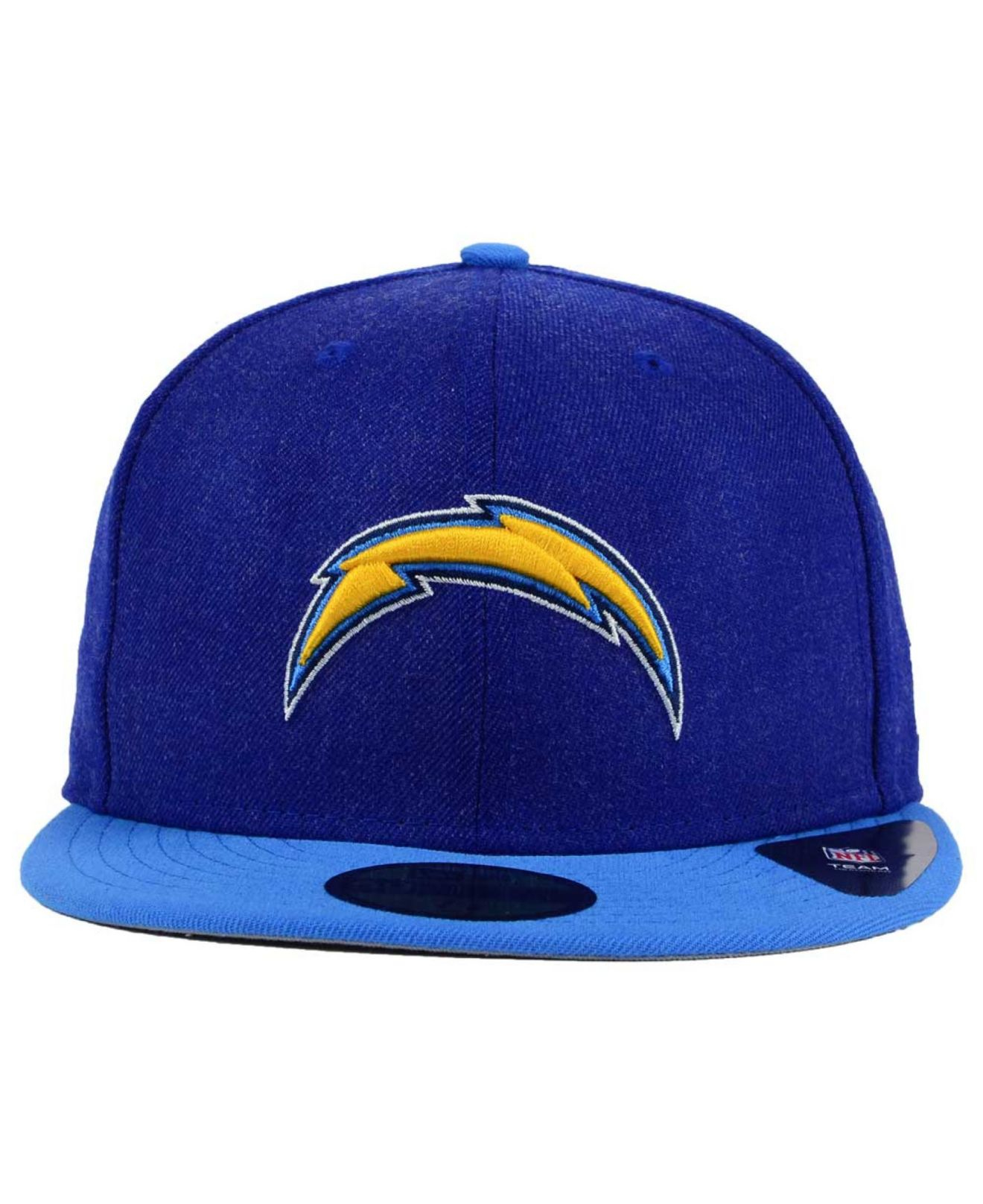 Ktz San Diego Chargers Heather Action 2 Tone 59fifty Cap