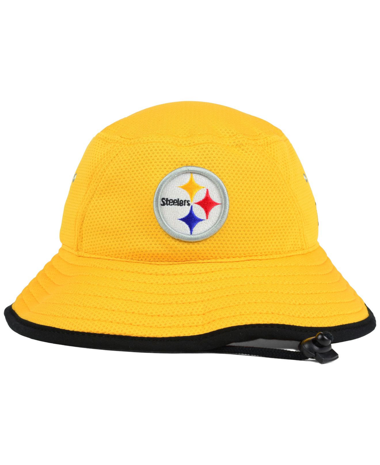 huge discount 3941f 3309a KTZ Pittsburgh Steelers Training Bucket Hat in Yellow for Men - Lyst