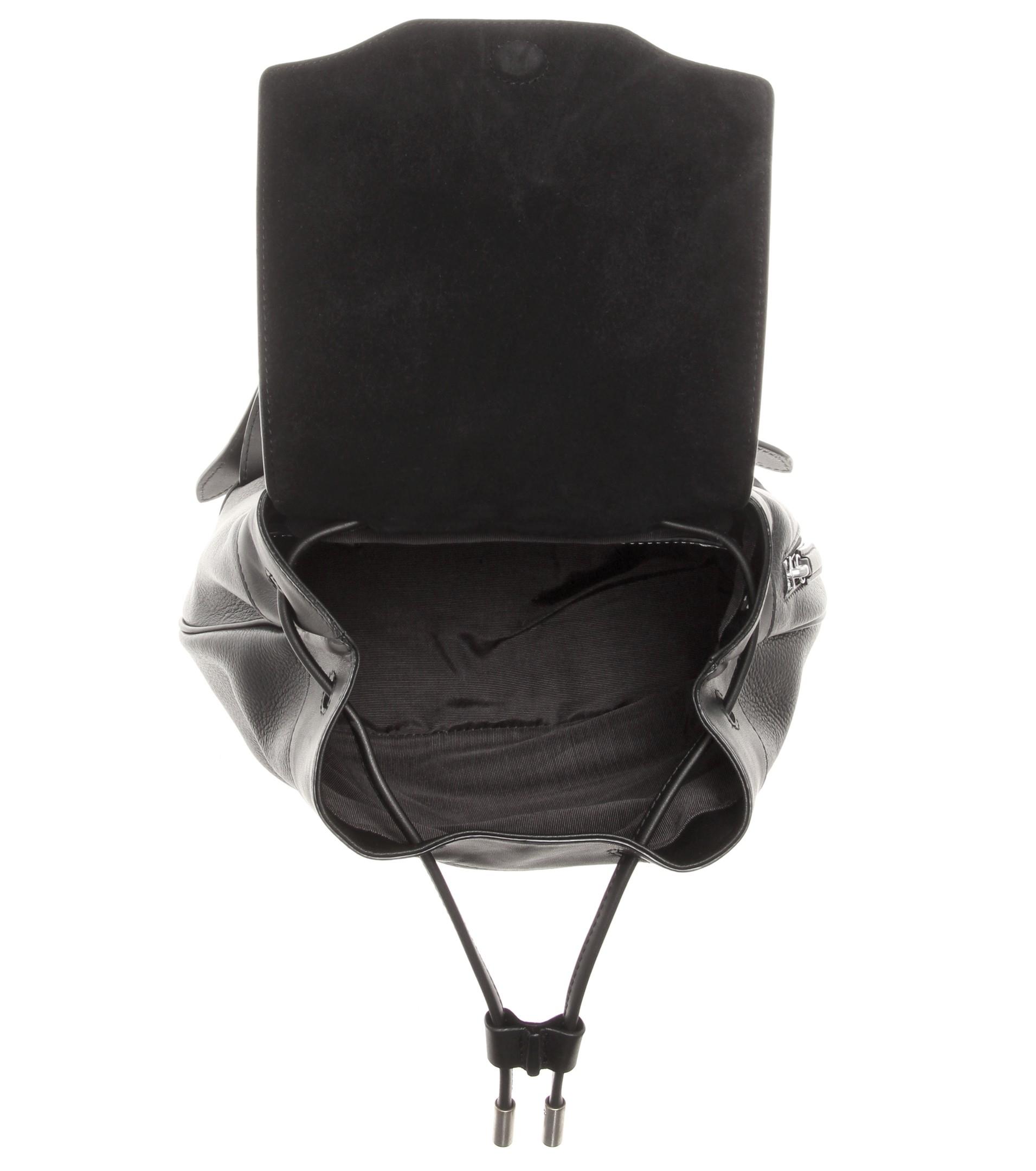 Rag Amp Bone Mini Pilot Leather Backpack In Black Lyst