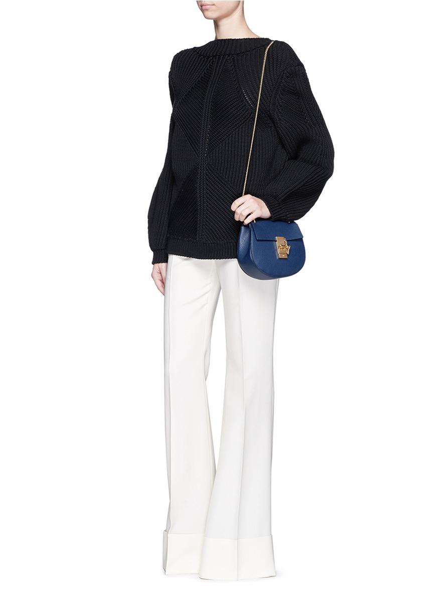clhoe bags - chloe drew mini grainy leather shoulder bag, chole bags