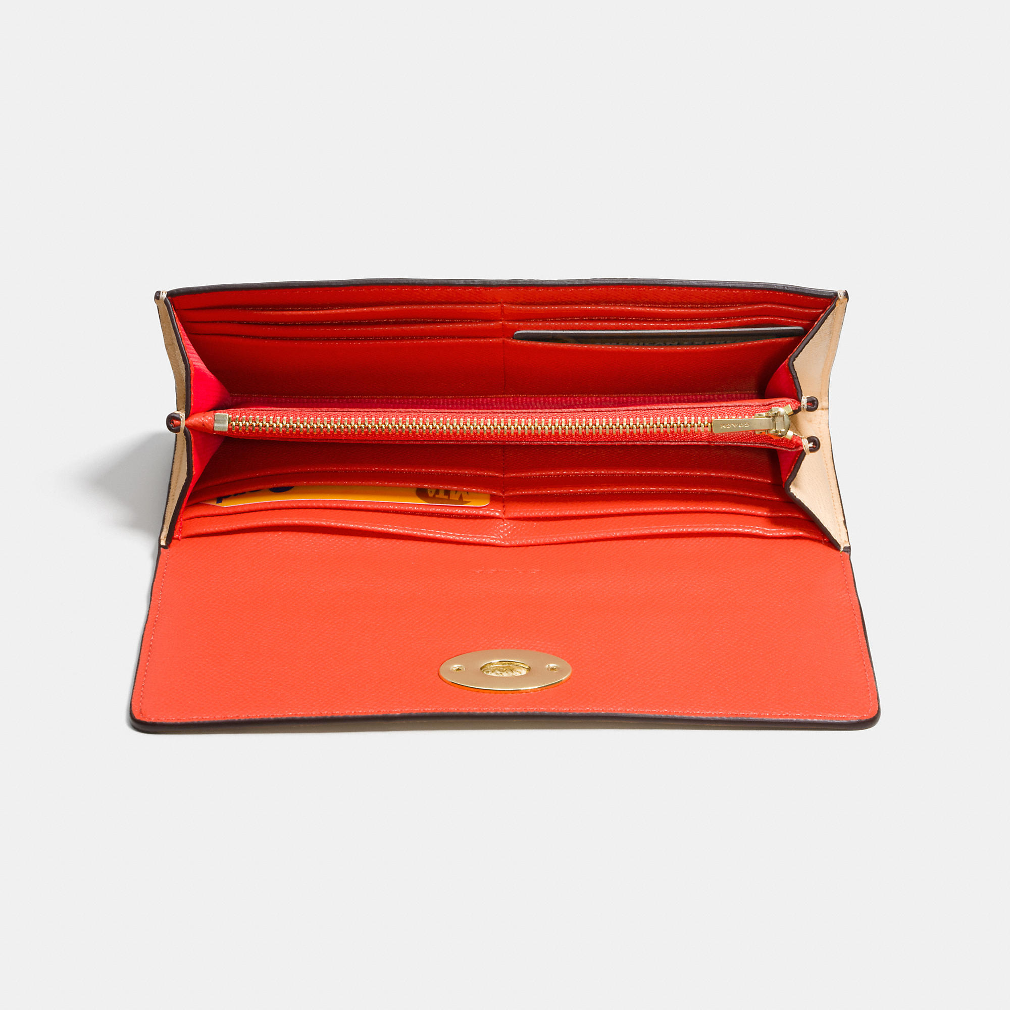 Lyst Coach Slim Envelope Wallet With Pop Up Pouch In