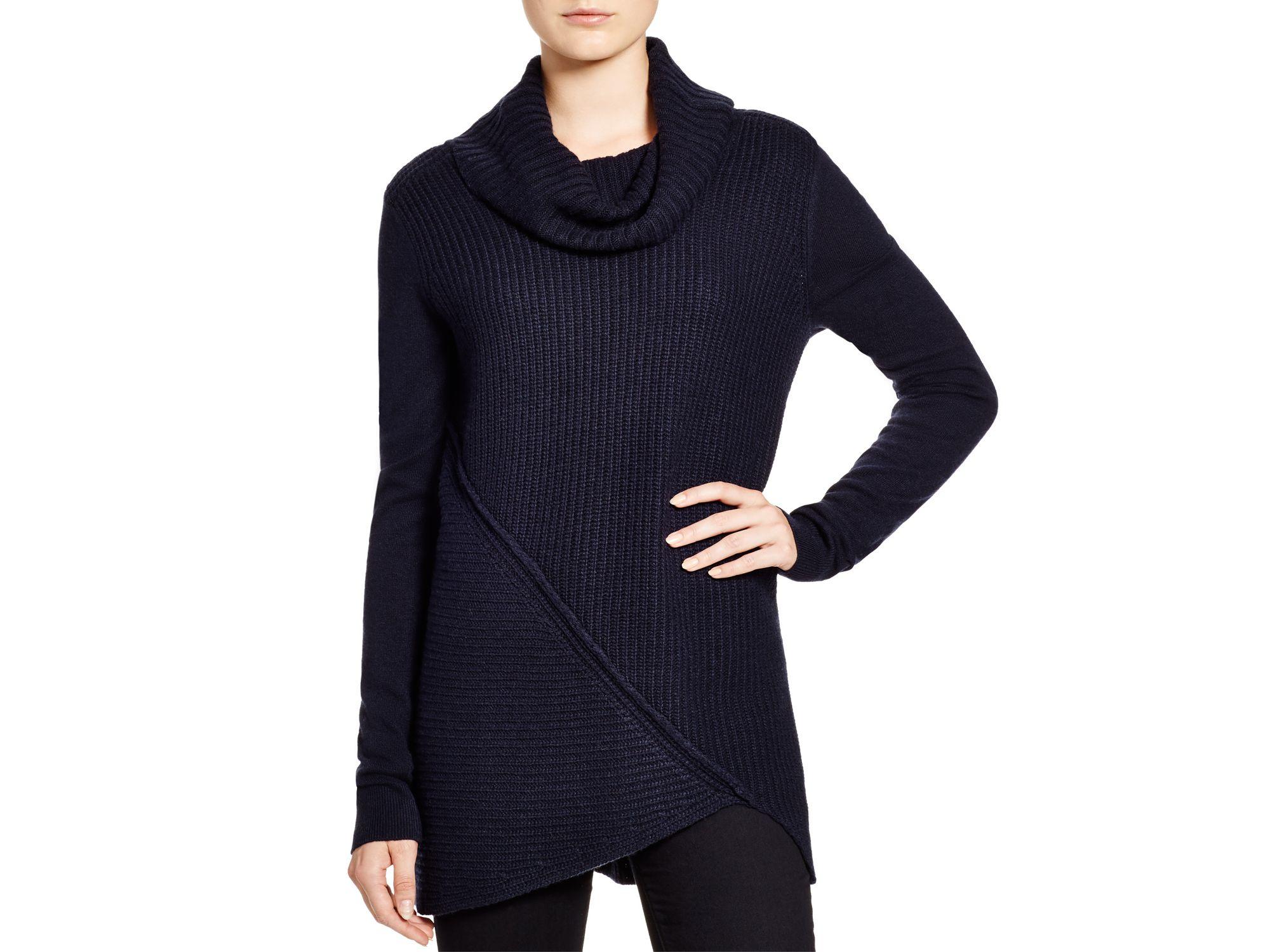 T tahari Phoenix Cowl Neck Sweater in Blue | Lyst