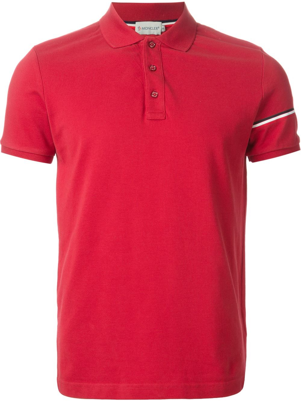 Moncler classic polo shirt in red for men lyst for Moncler polo shirt sale