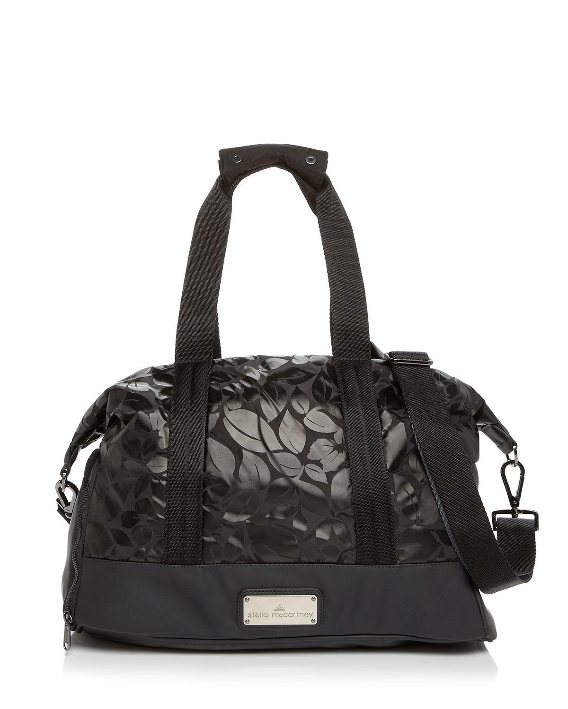 050fec9471 Lyst - adidas By Stella McCartney Tote - Floral Small Gym Bag in Black