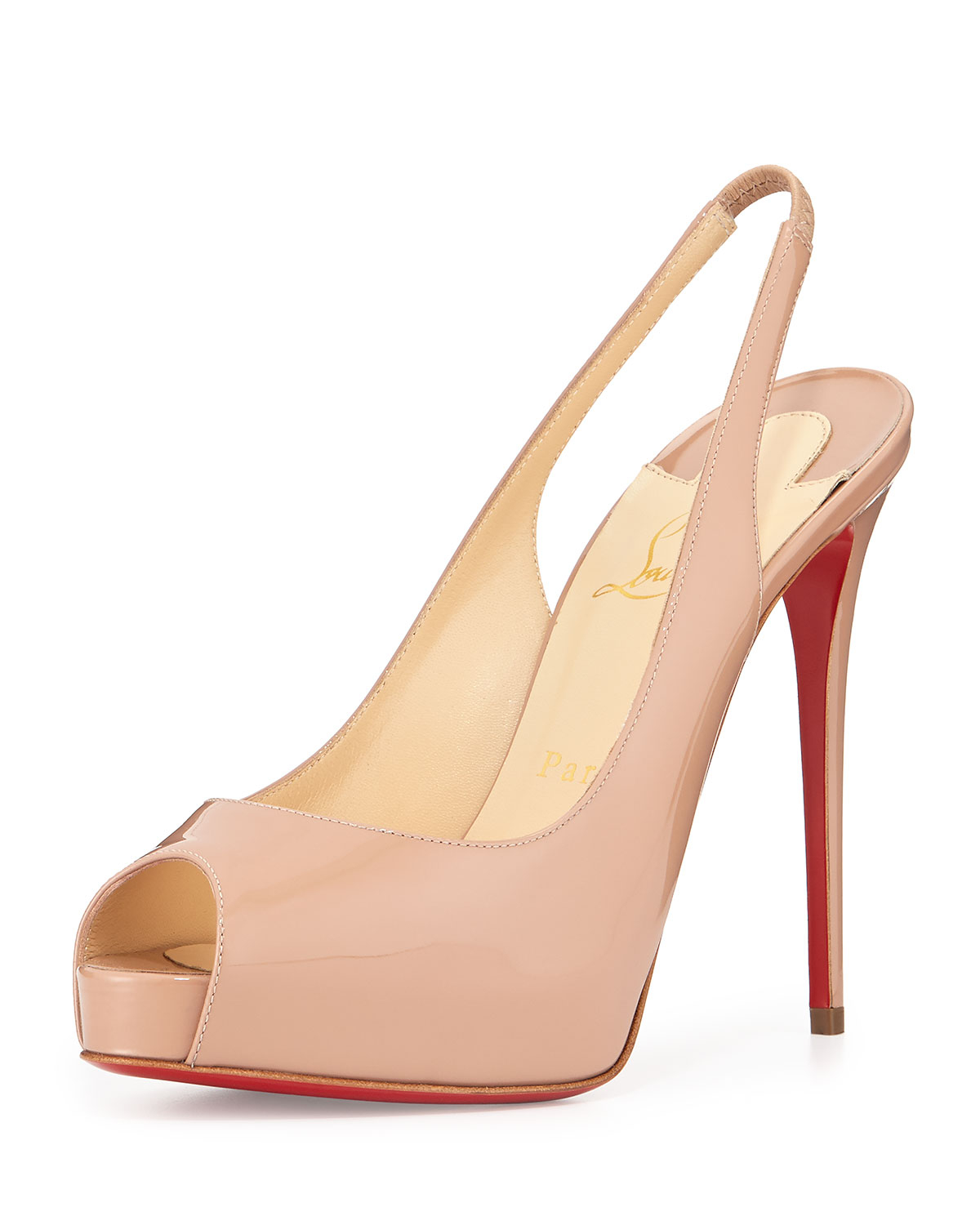 8cb653de3 Christian Louboutin Private Number Slingback in Natural - Lyst