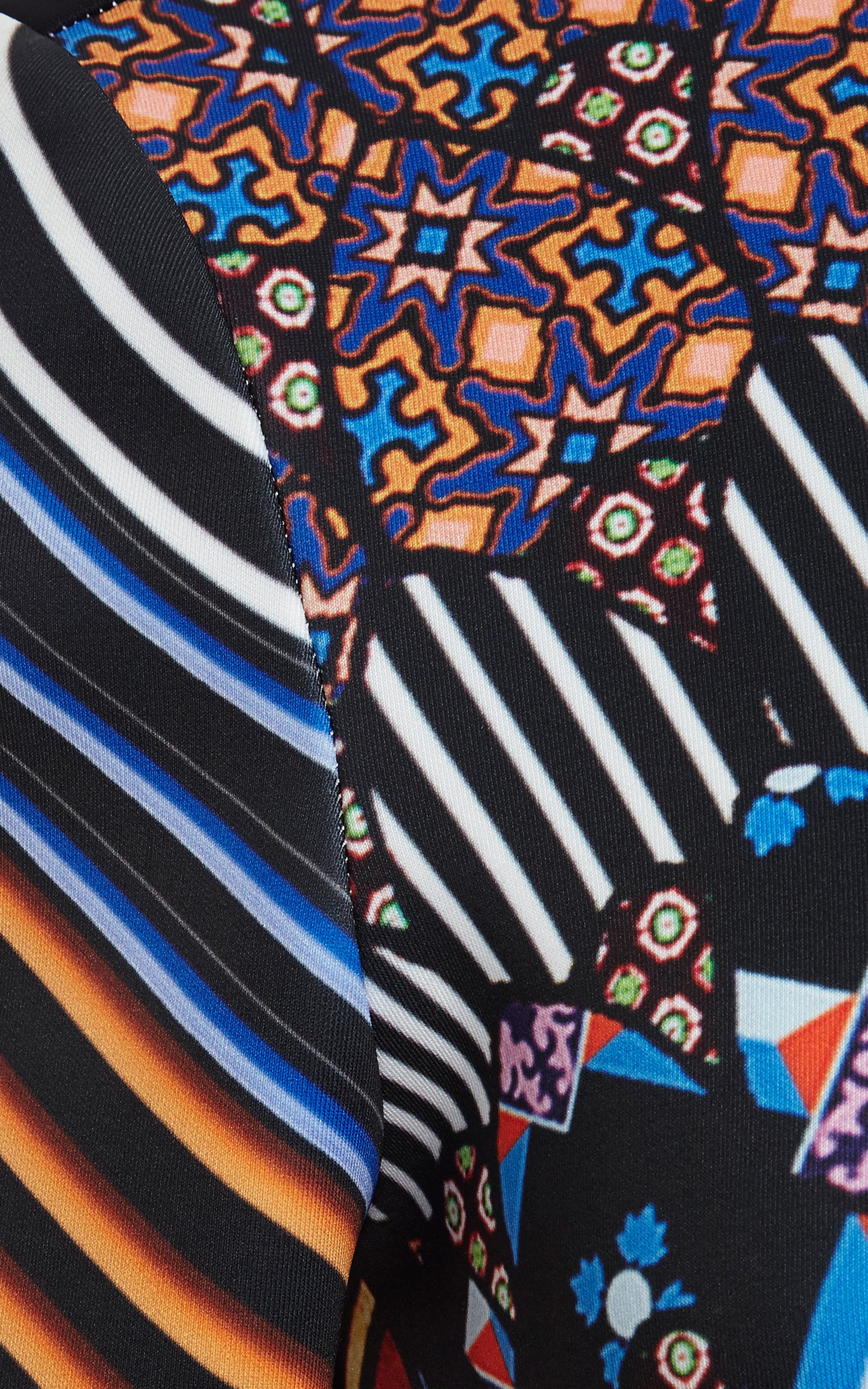 Stained glass print maxi dress