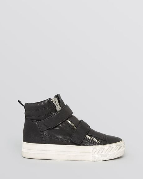 ash high top sneakers jump in gray nevada nevada lyst. Black Bedroom Furniture Sets. Home Design Ideas