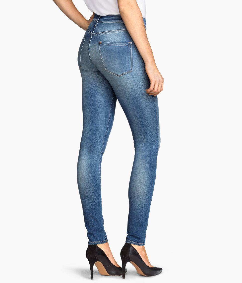 H&m Shaping Skinny Regular Jeans in Blue | Lyst