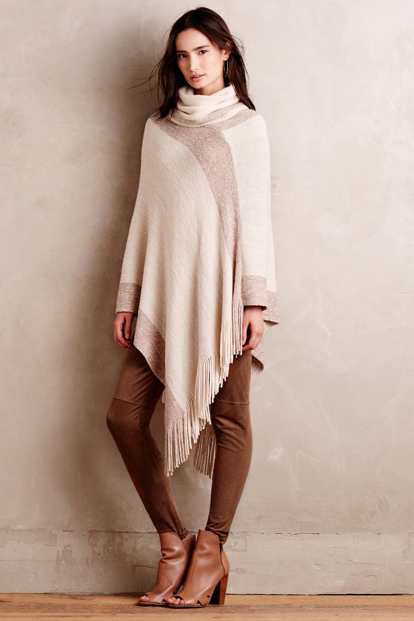 Anthropologie Pont Neuf Poncho in Natural | Lyst