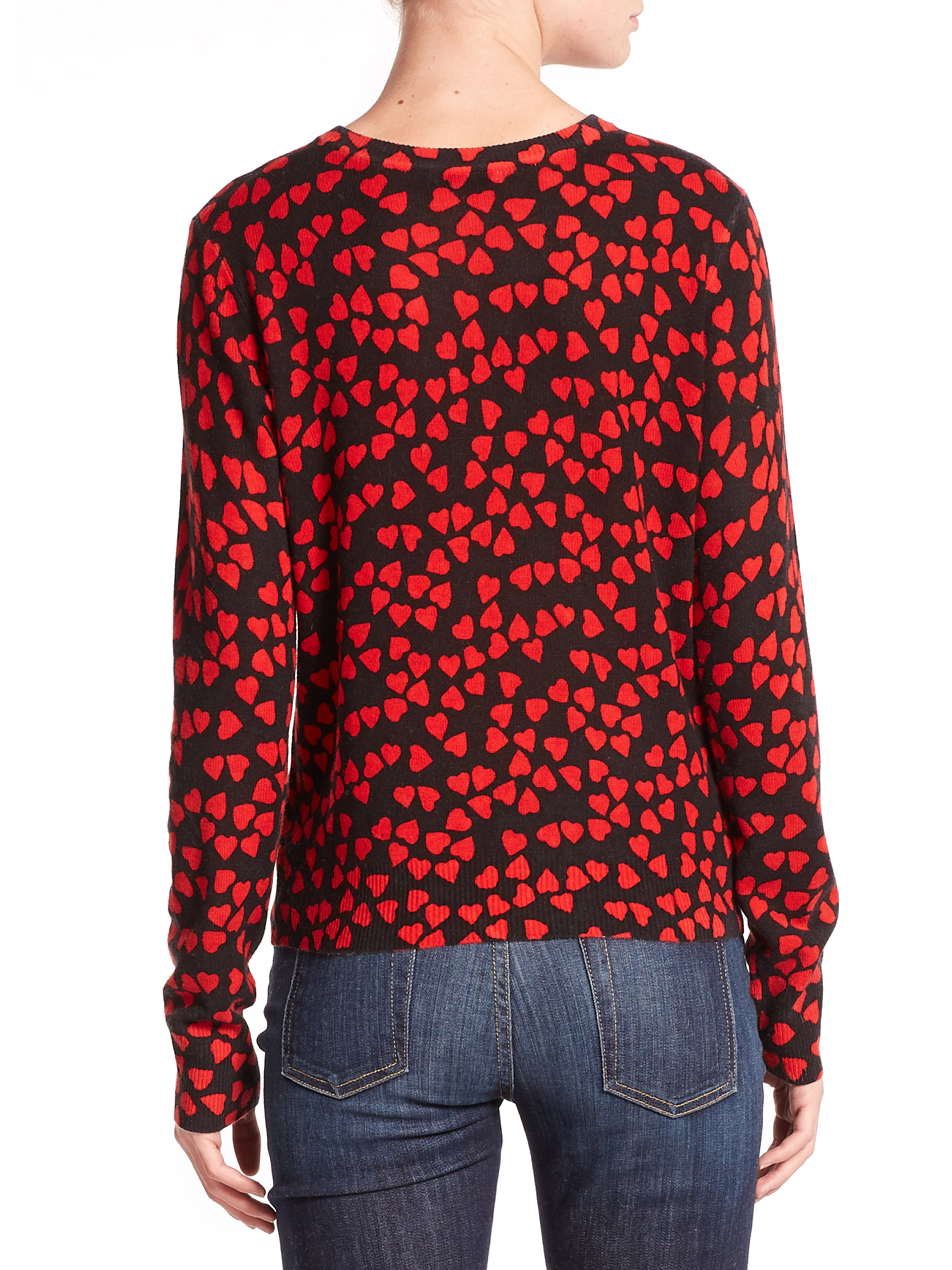Equipment Shirly Heart-print Cashmere Sweater in Red | Lyst
