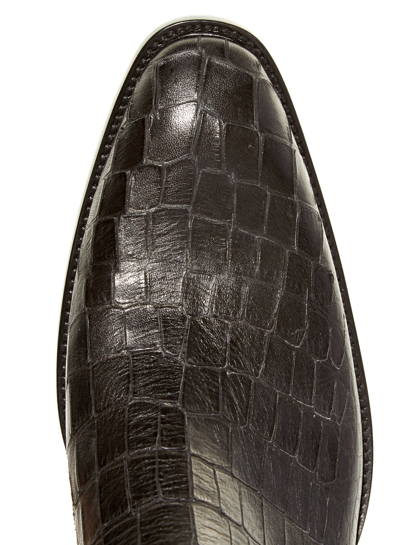baf155e29253 Saint Laurent Crocodile-Effect Leather Chelsea Boots in Black for ...