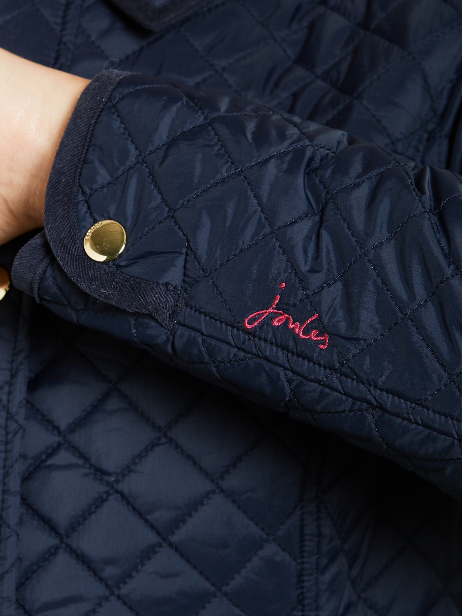 Joules Fairhurst Quilted Jacket In Blue Lyst