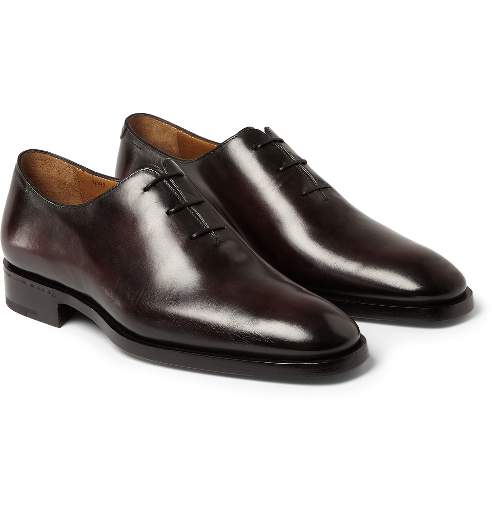 Berluti Milano Leather Oxford Shoes In Brown For Men Lyst