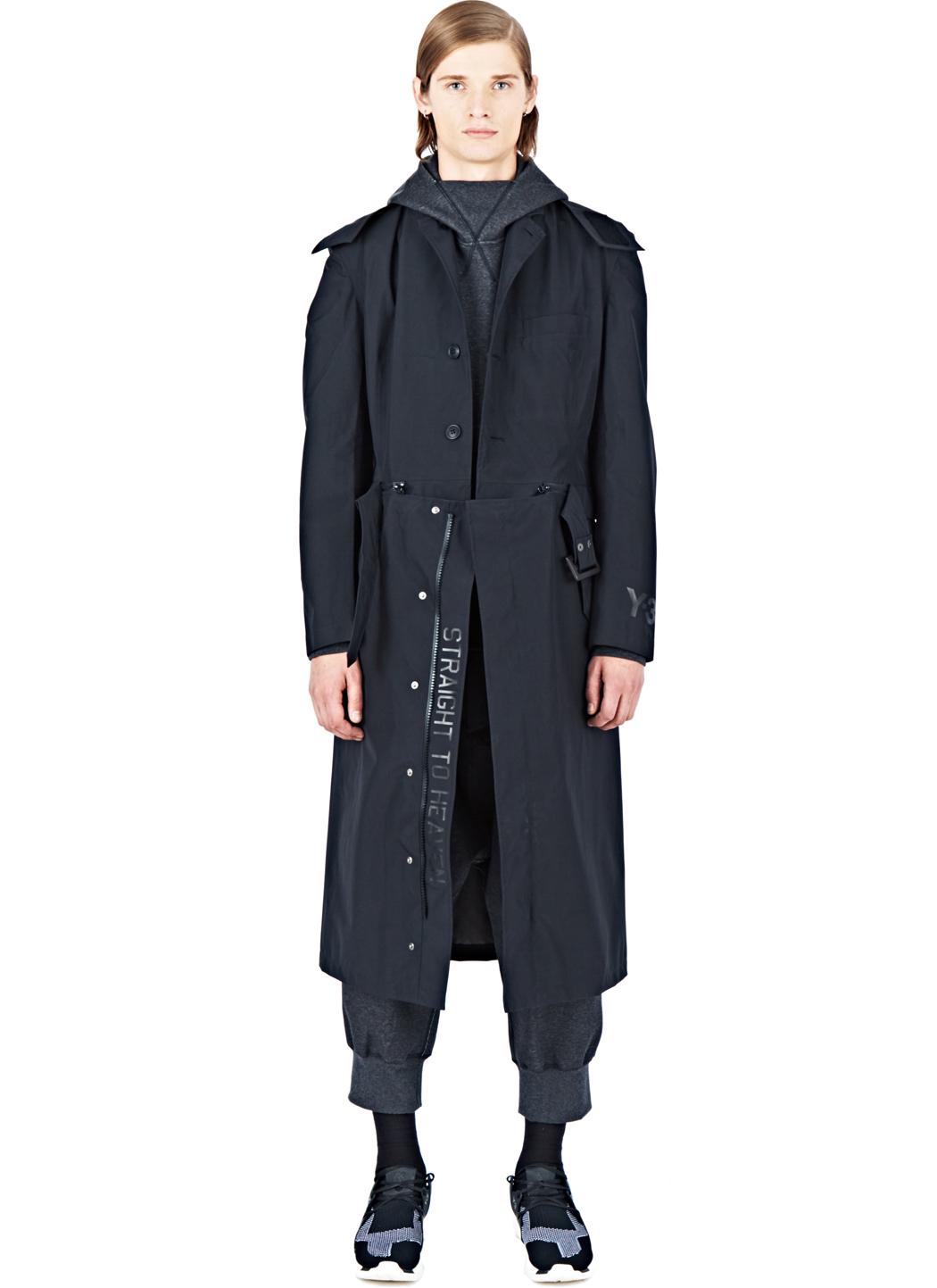 Y 3 Gore Tex Trench Coat In Black For Men Lyst