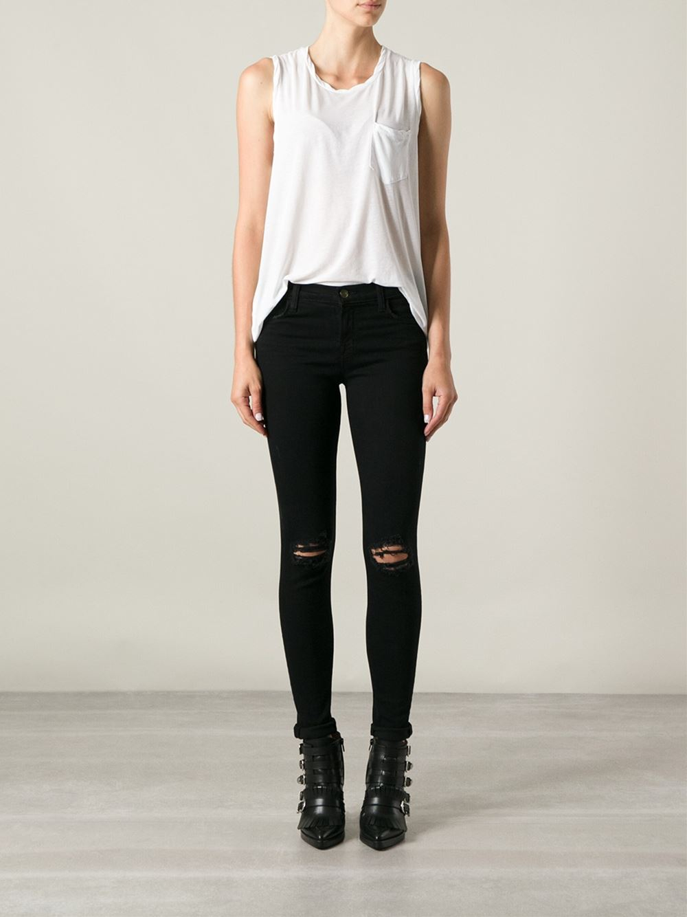 ripped skinny jeans - Black J Brand Shopping Online Cheap Price 2018 Newest Sale Online VnUf2f