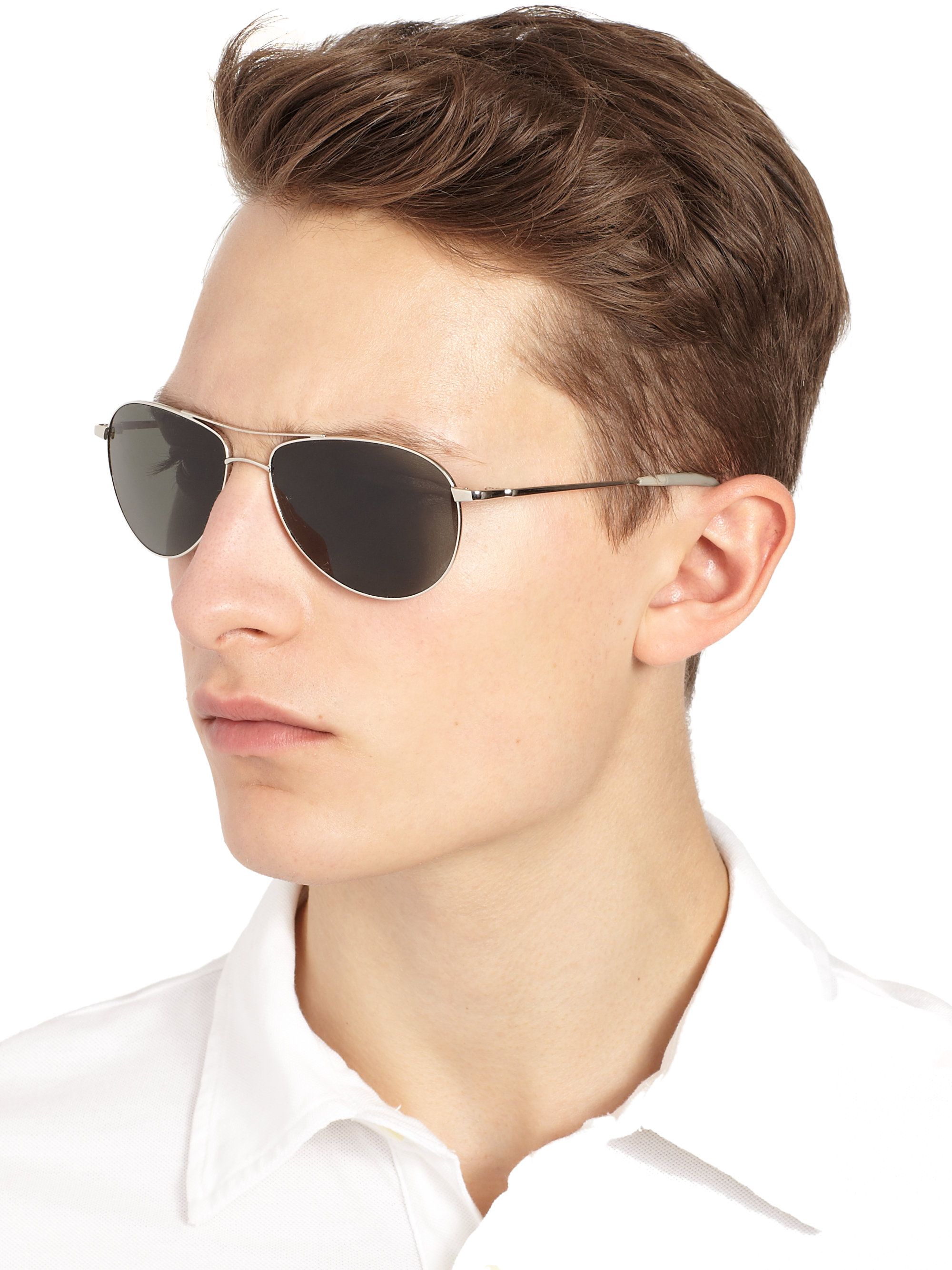 b7c566a6ed Oliver Peoples Mens Aviator Sunglasses