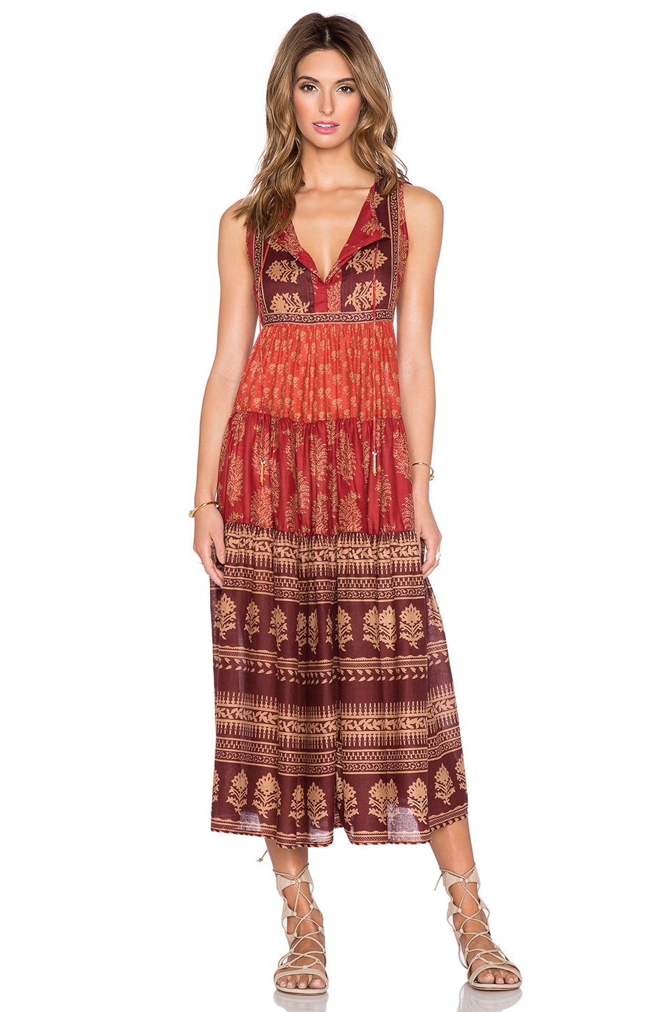 Raga Indian Summer Maxi Dress in Red - Lyst