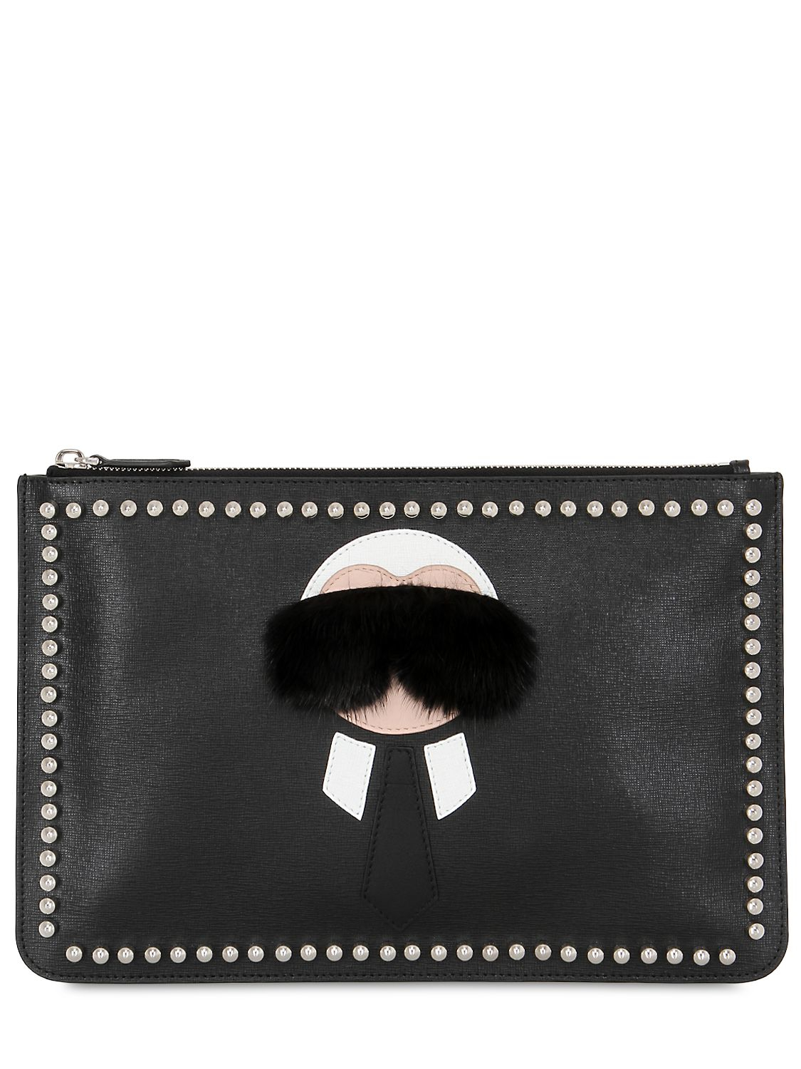 Free Shipping Find Great Leather clutch Karl Lagerfeld Sale Visa Payment Sale How Much Cheap Countdown Package Do7q2Re