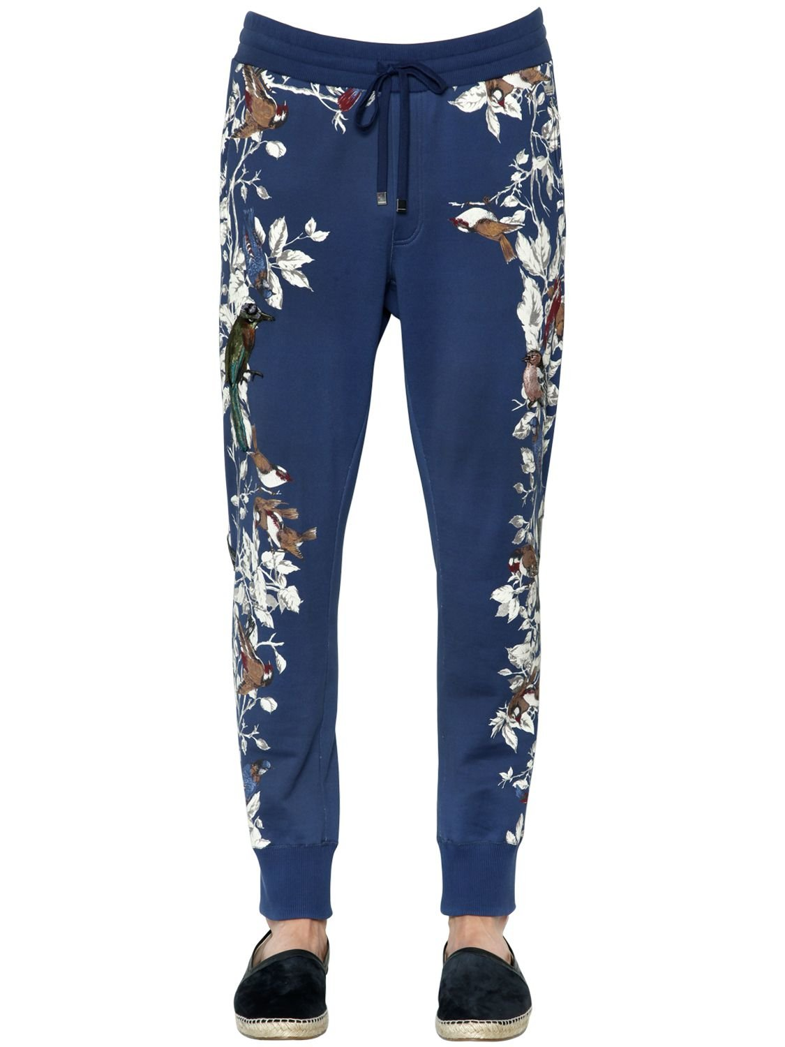Lyst Dolce Amp Gabbana Birds Embroidered Cotton Jogging