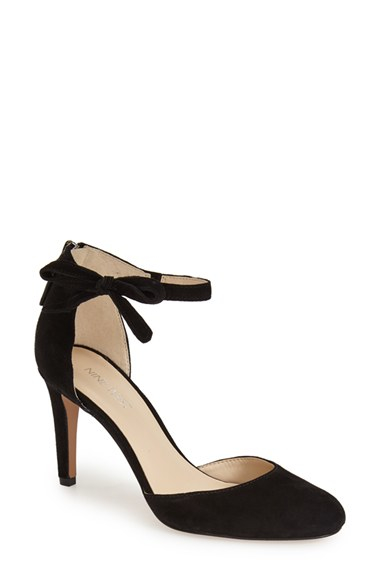 Lyst Nine West Howley Ankle Strap Pump In Black