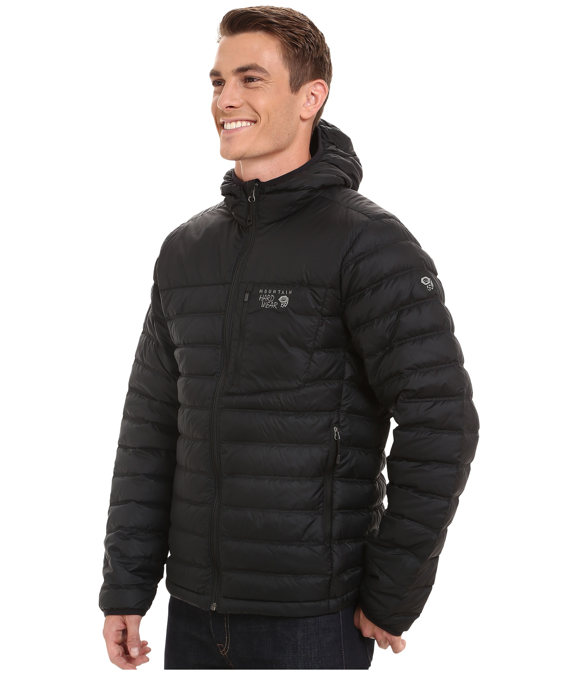 Mountain hardwear Dynotherm™ Hooded Down Jacket in Black for Men