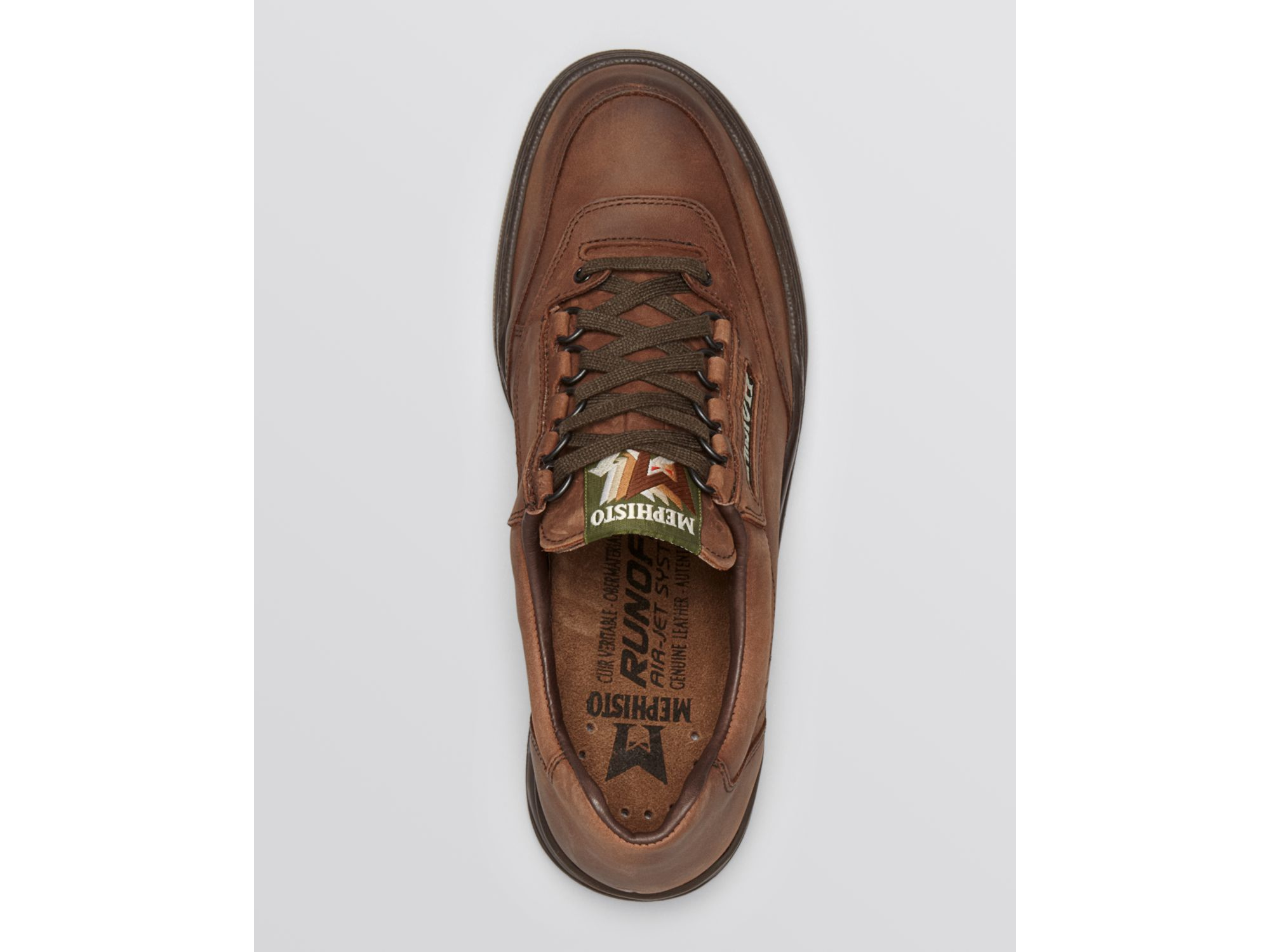 mephisto match sneakers in brown for lyst
