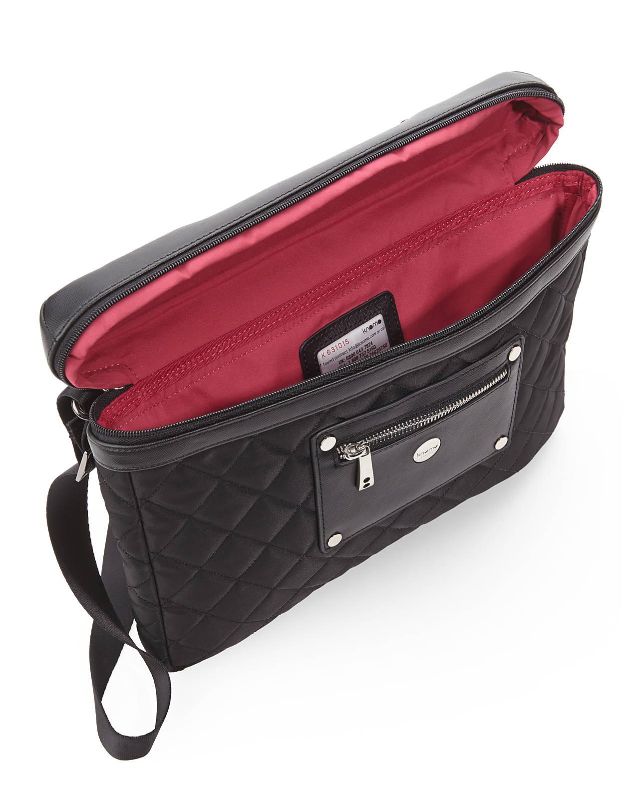 Lyst - Knomo Black Small Slim Sleeve Laptop Case in Black for Men c3b2a48bb6dd