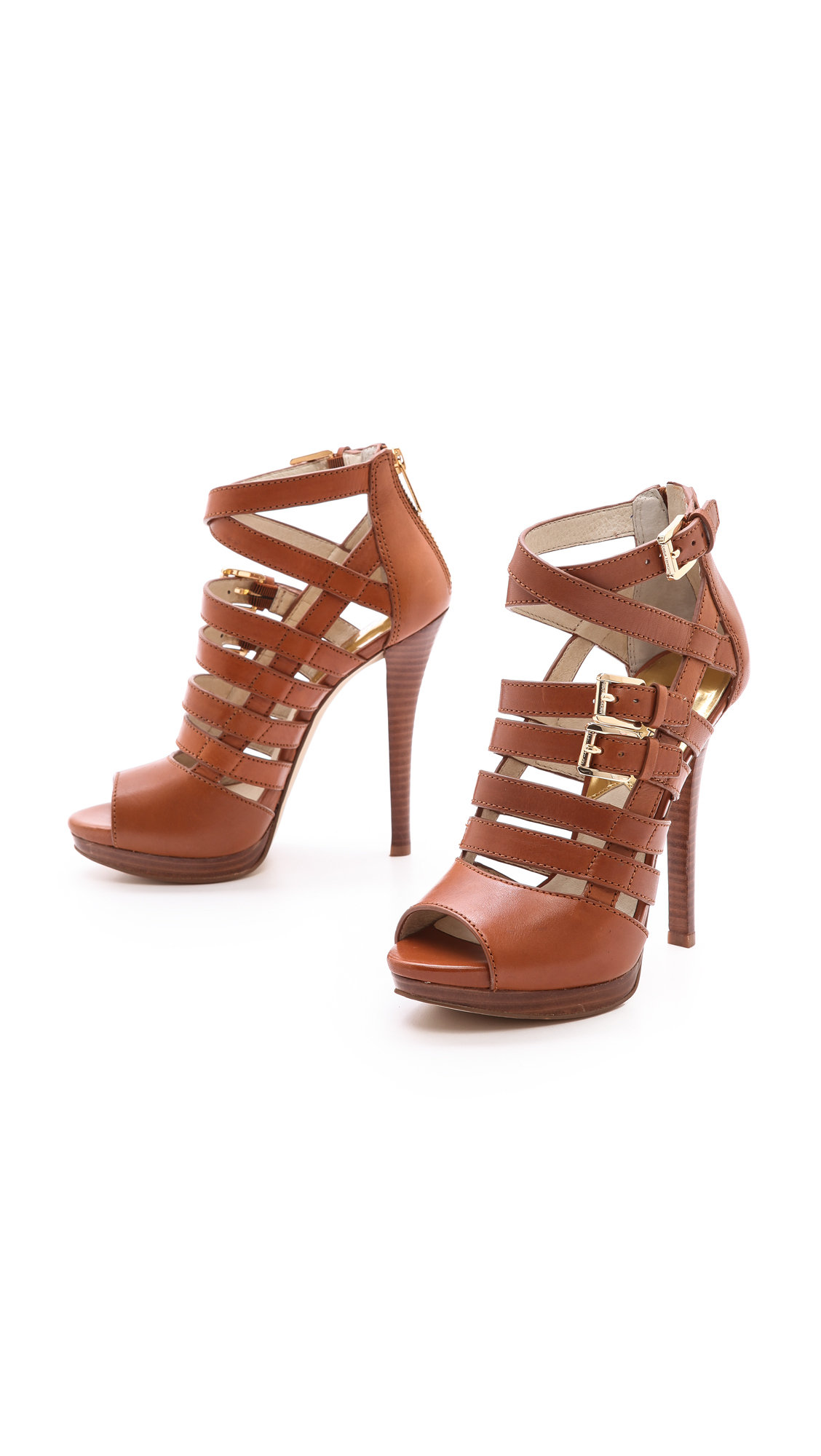 MICHAEL 93QOgWT3Wx SANDRA PLATFORM - High heeled sandals - black WIhh33C