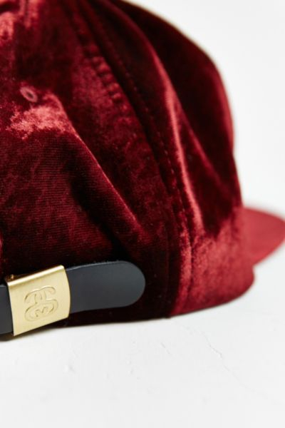 Lyst - Stussy Pattern Velvet Strapback Hat in Purple for Men 3d8d4bd3ce0
