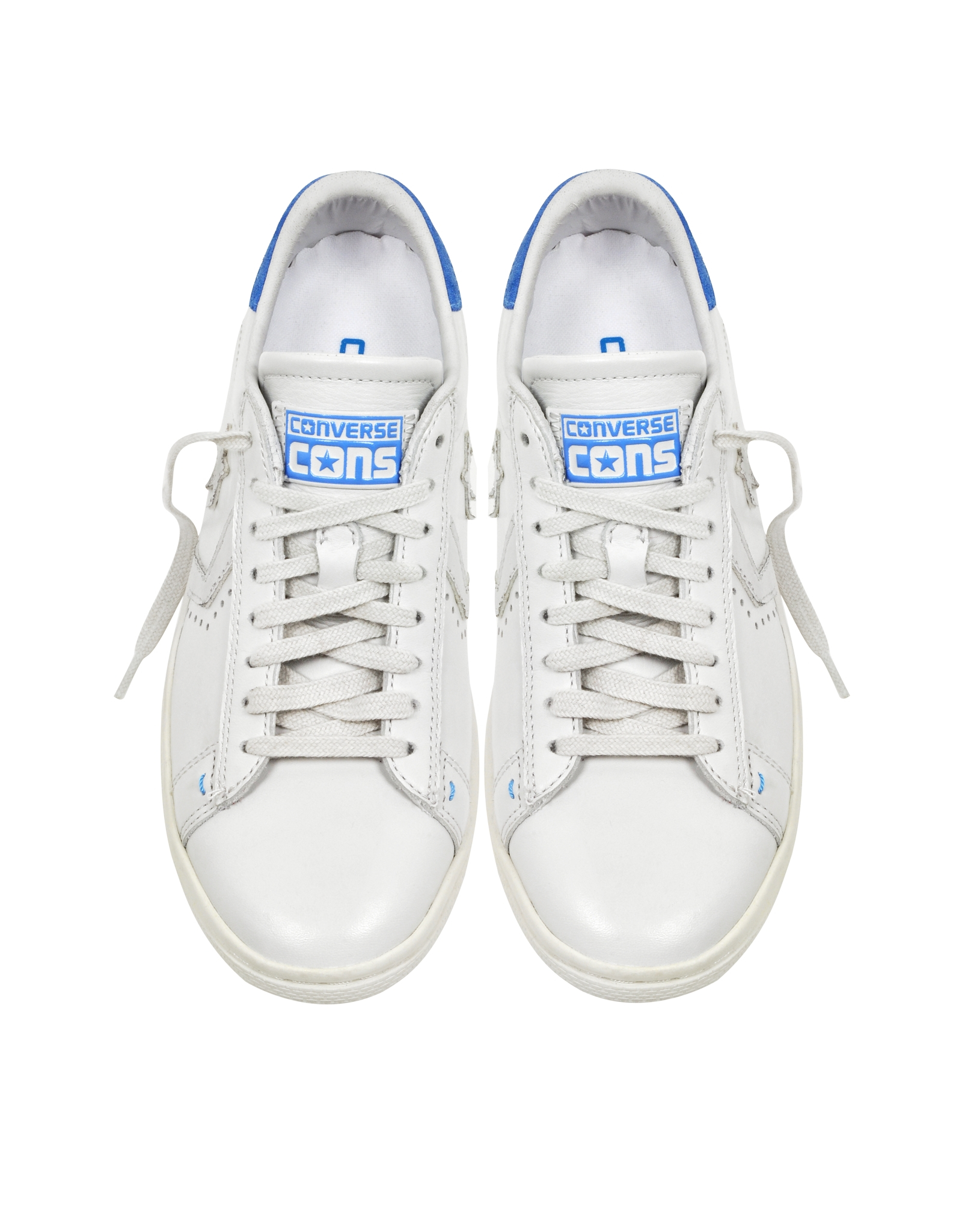 2c534e55e31c Lyst - Converse Cons Pro Leather Lp Ox White Dust And Light Blue ...