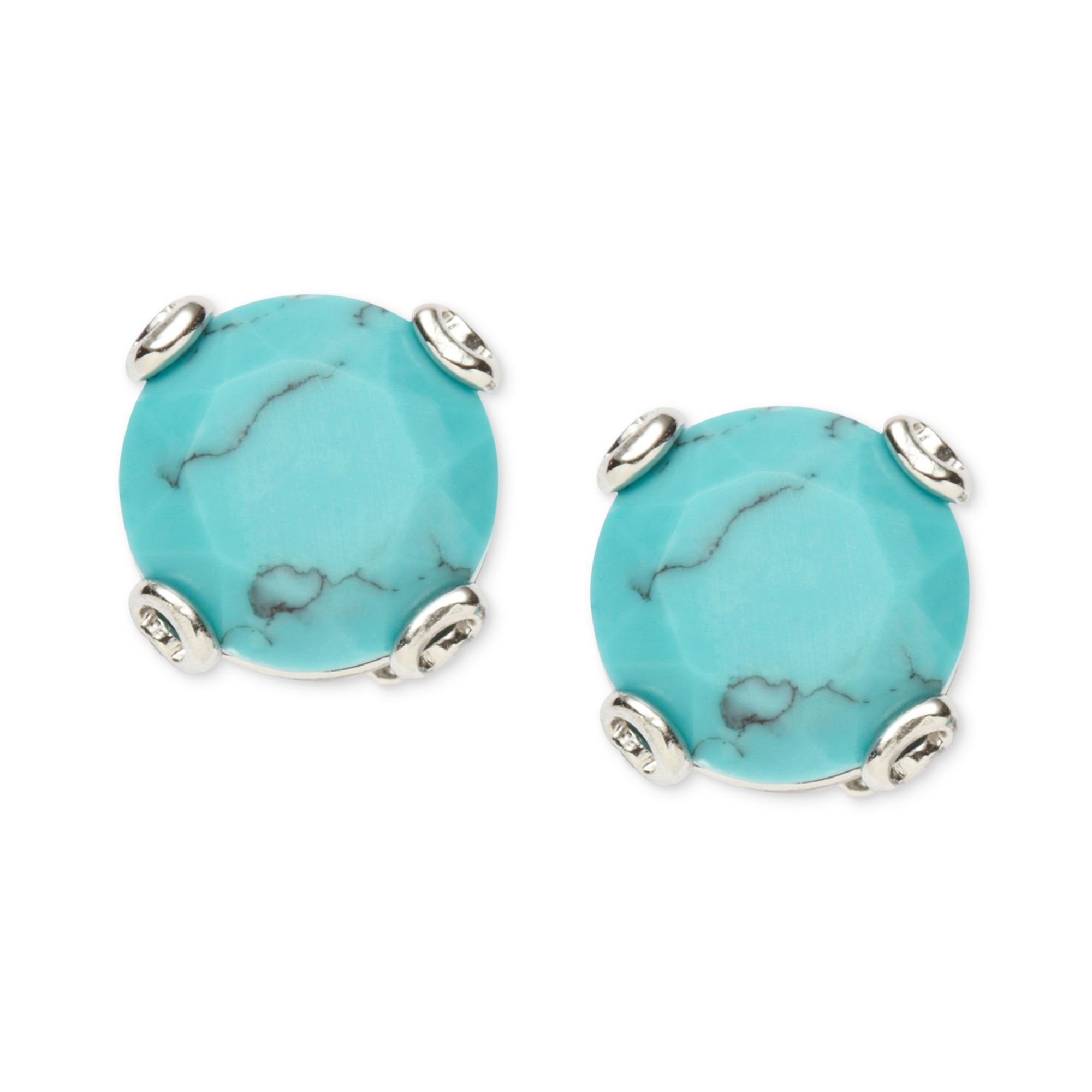 earrings gold jewellery bar stud bonas oliver taryn turquoise