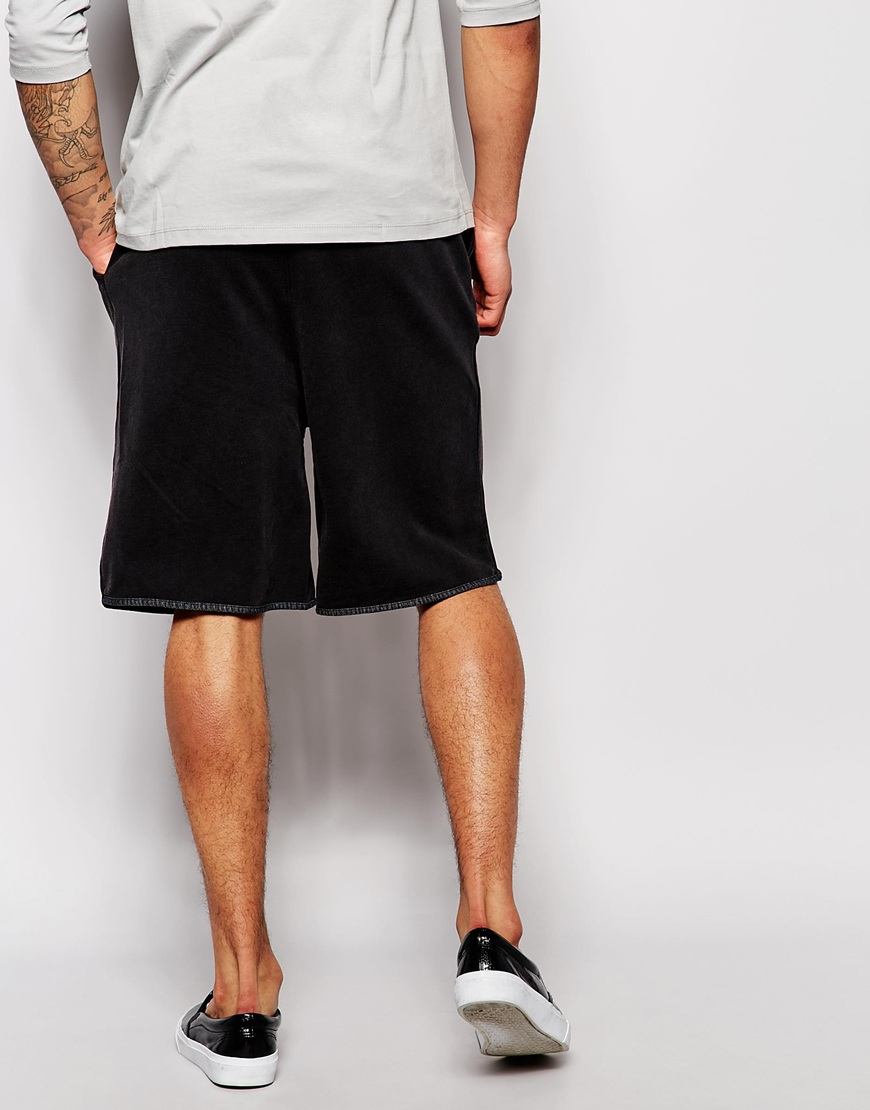 Cheap monday Sweat Shorts Curve Used Black in Black for Men | Lyst