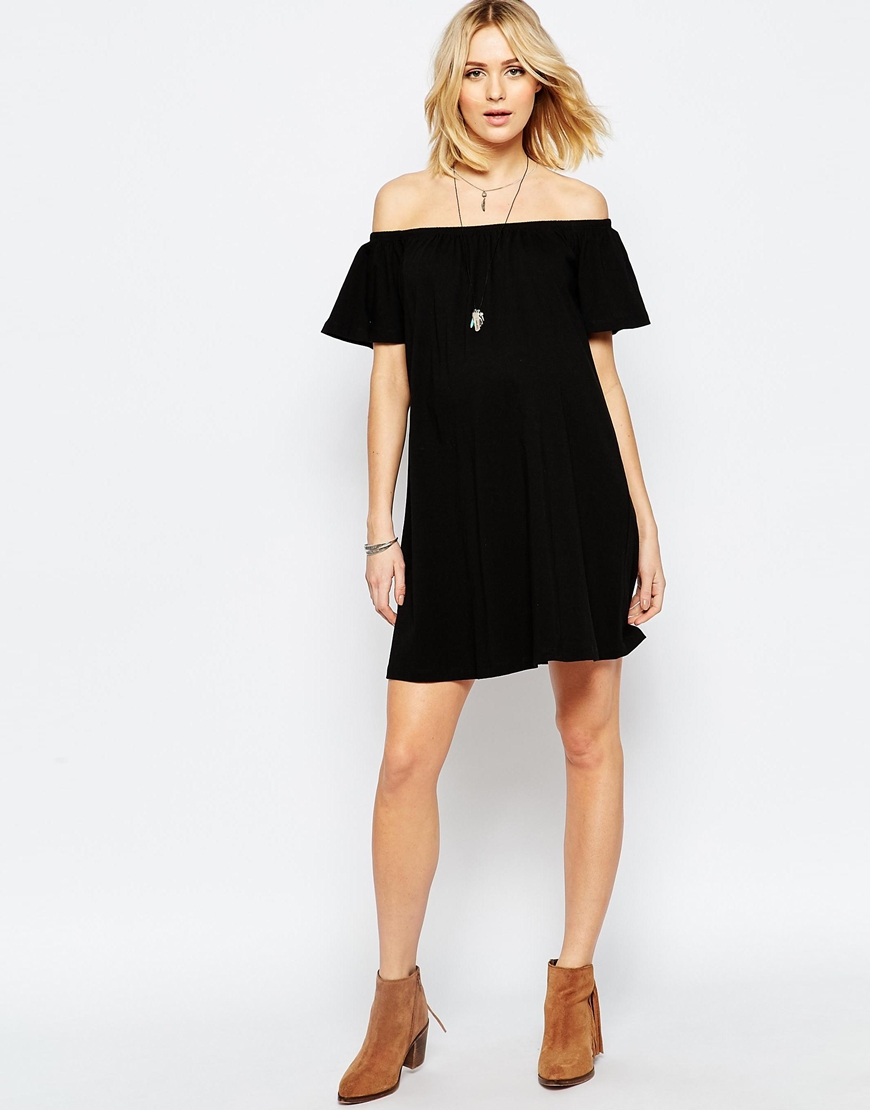 Lyst asos off shoulder mini dress white in black gallery womens off the shoulder dresses ombrellifo Image collections