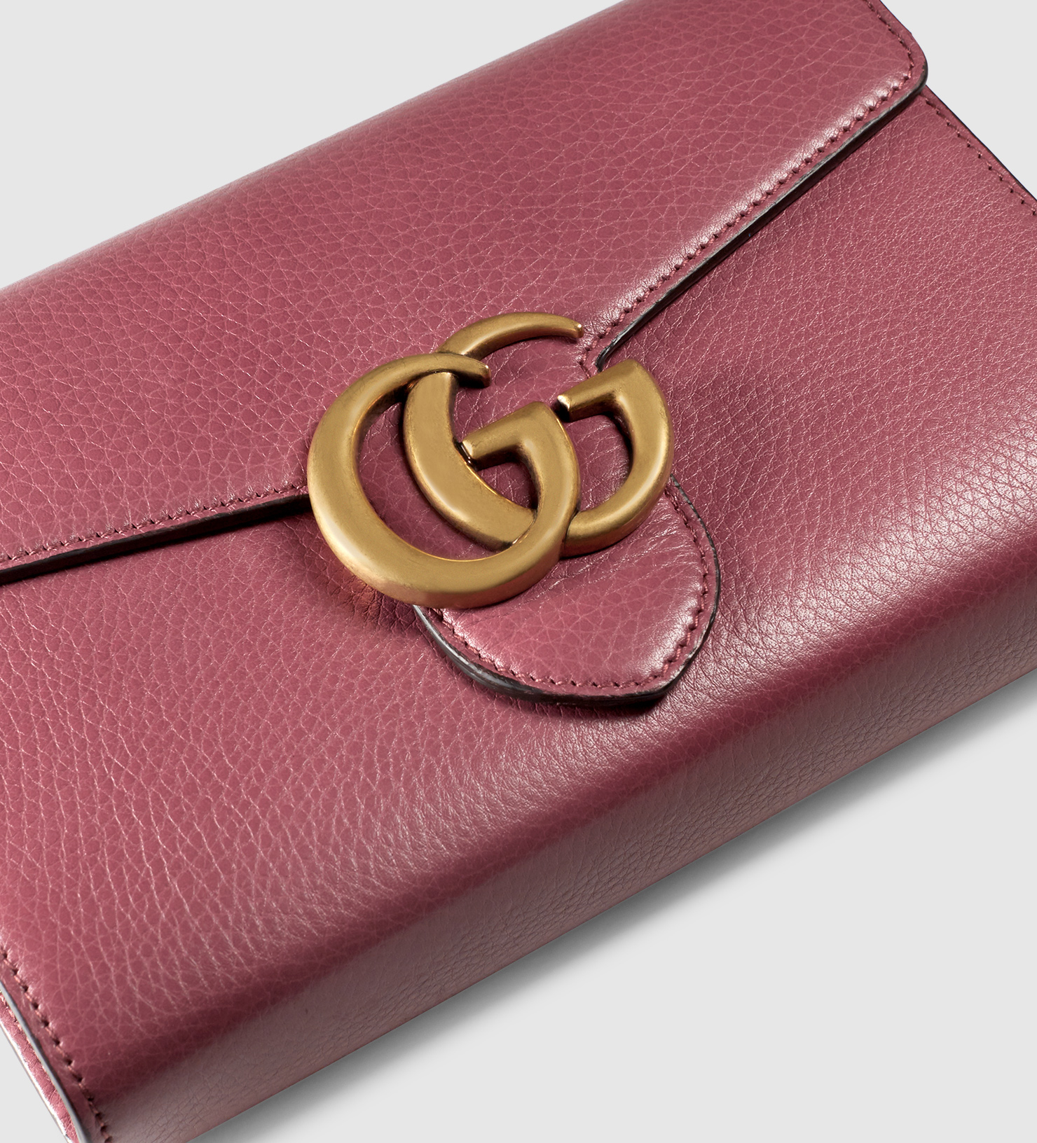2957676da Gucci Gg Marmont Leather Chain Wallet in Purple - Lyst
