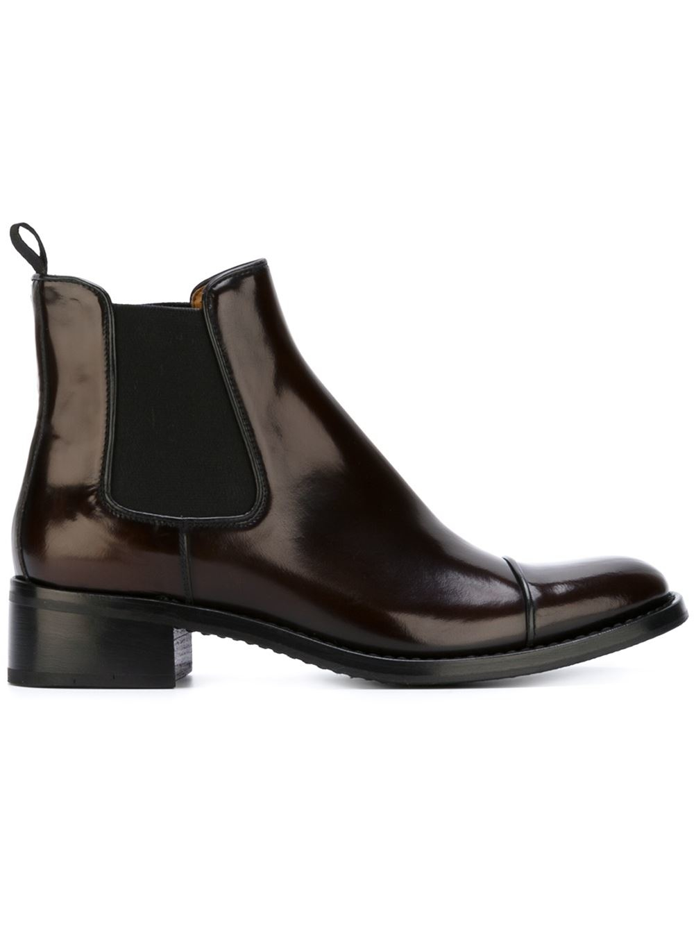 church 39 s 39 nerina 39 chelsea boots in brown lyst. Black Bedroom Furniture Sets. Home Design Ideas