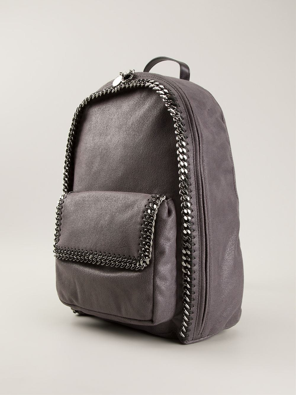 stella mccartney falabella backpack in gray lyst. Black Bedroom Furniture Sets. Home Design Ideas