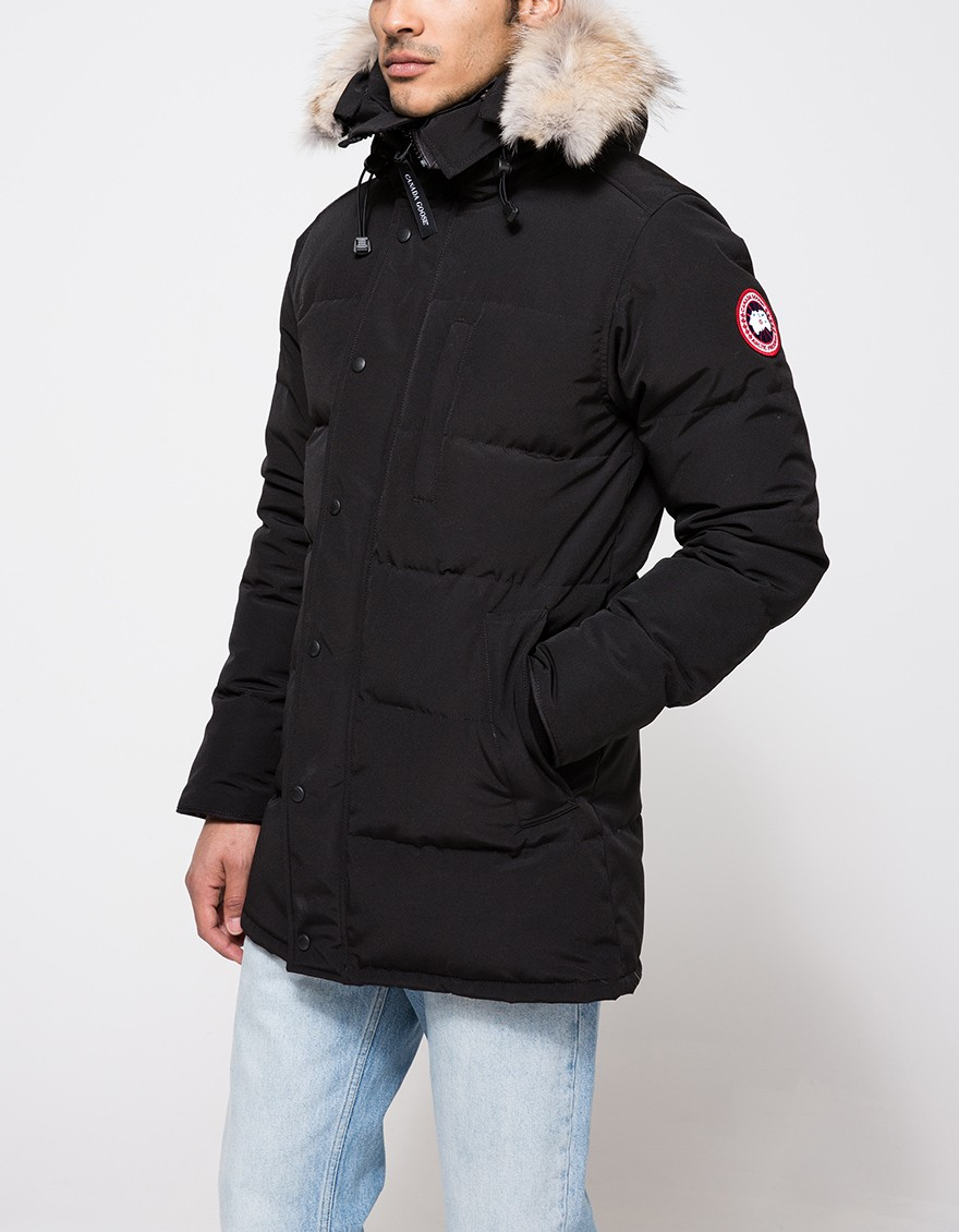 Canada Goose Carson Drawstring Hooded Parka In Black For