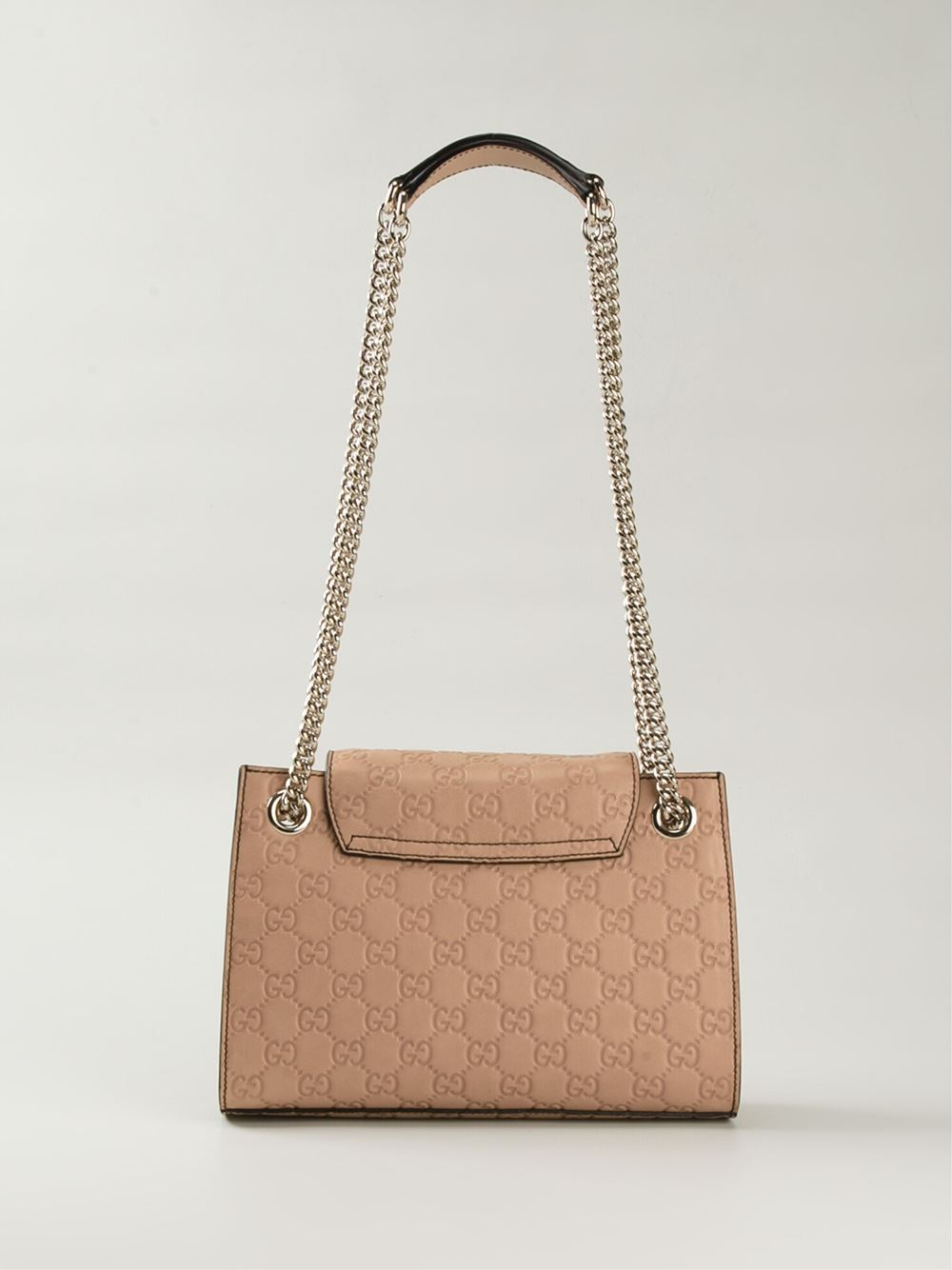 269b8ffb03b Lyst - Gucci Emily Medium Calf-leather Shoulder Bag in Natural