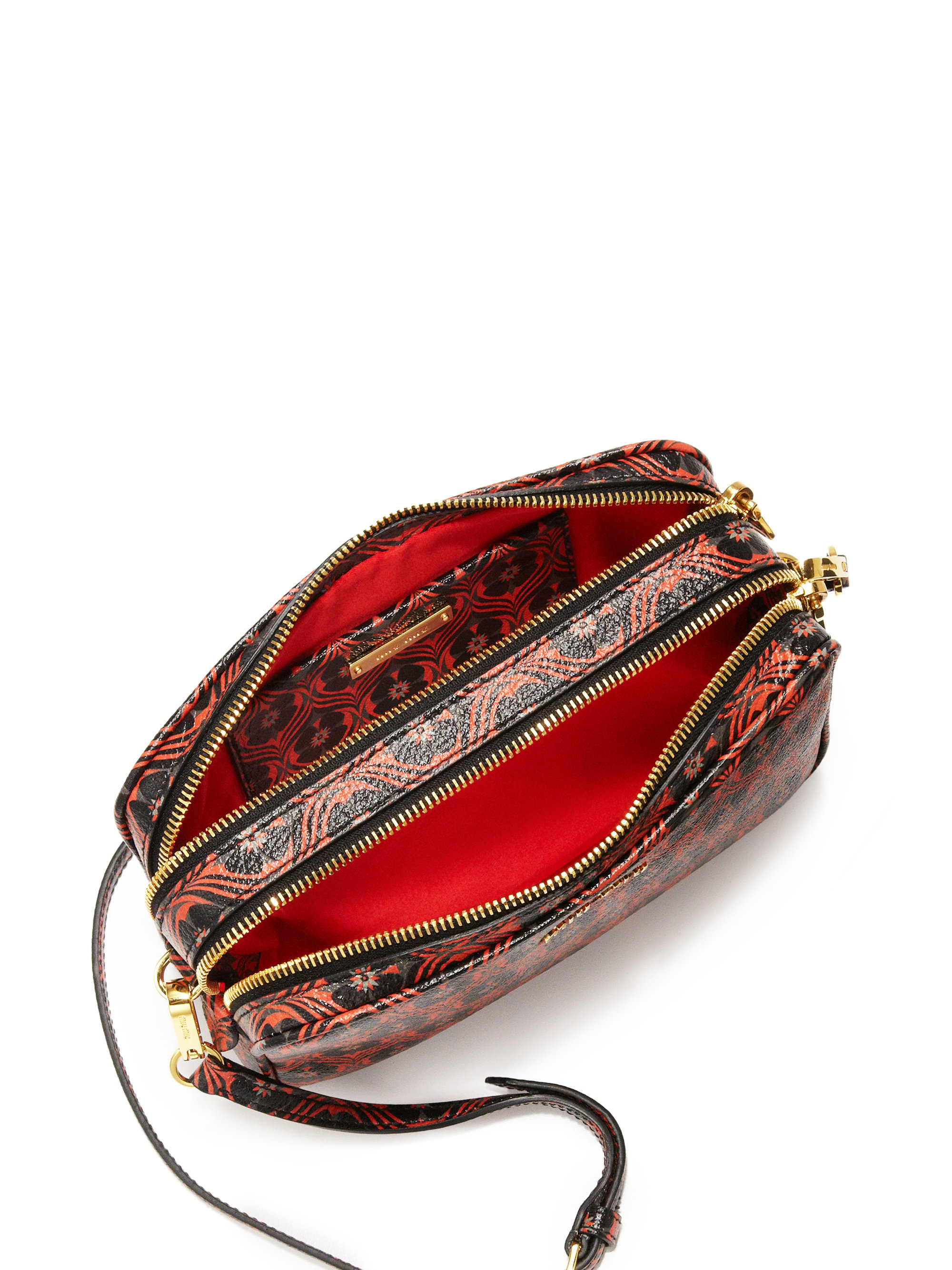 Miu Miu Madras Floral-print Camera Bag In Red | Lyst