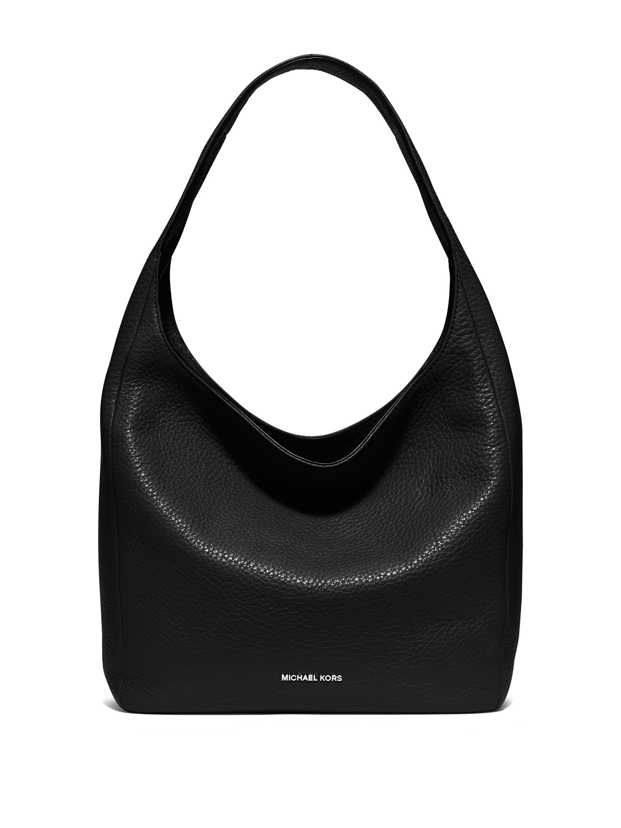 227ff70c533f4 Lyst - MICHAEL Michael Kors Lena Large Leather Hobo Bag in Black