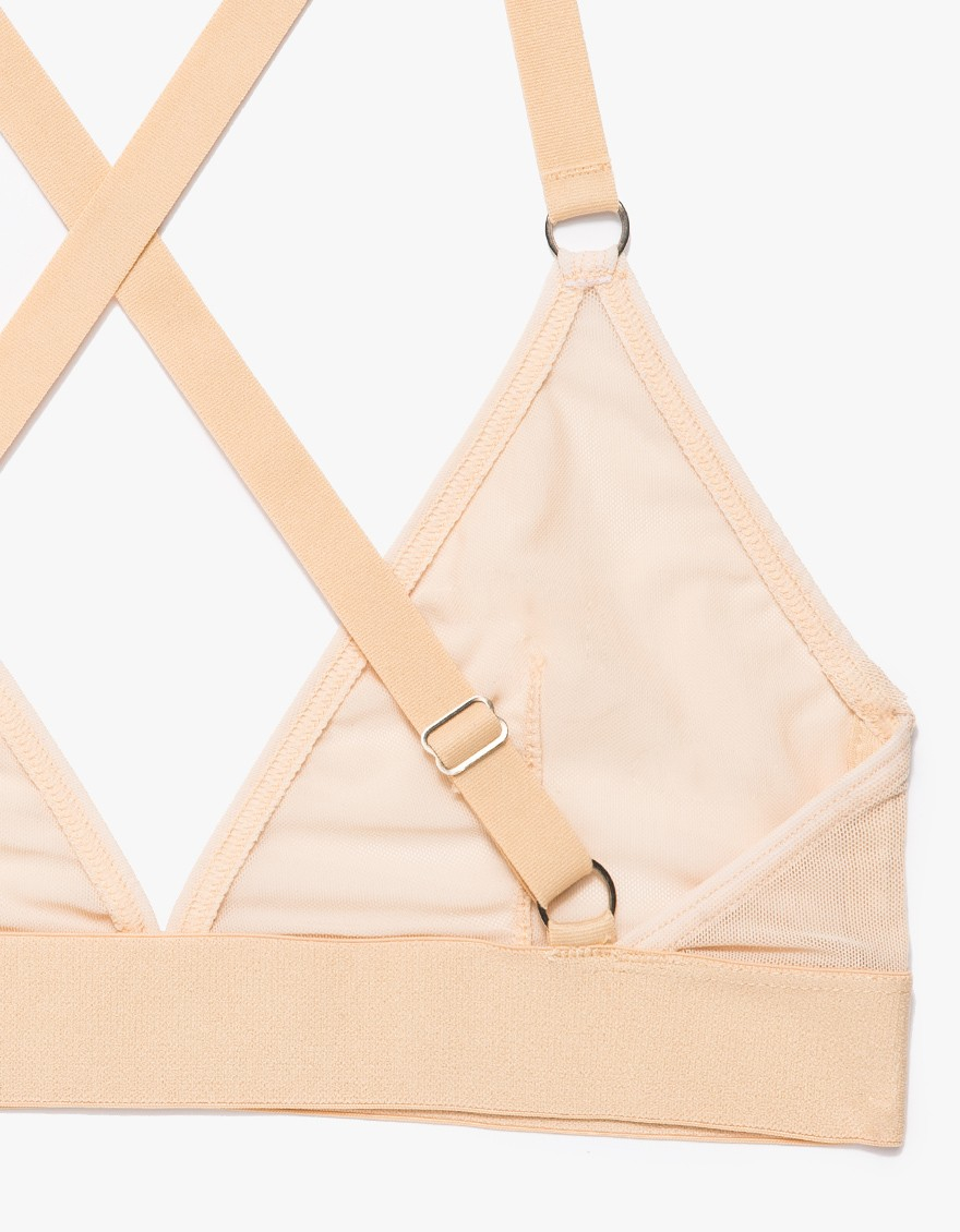 5f85d3efd0f250 Lyst - The Nude Label Triangle Bra In Sheer Nude in Natural