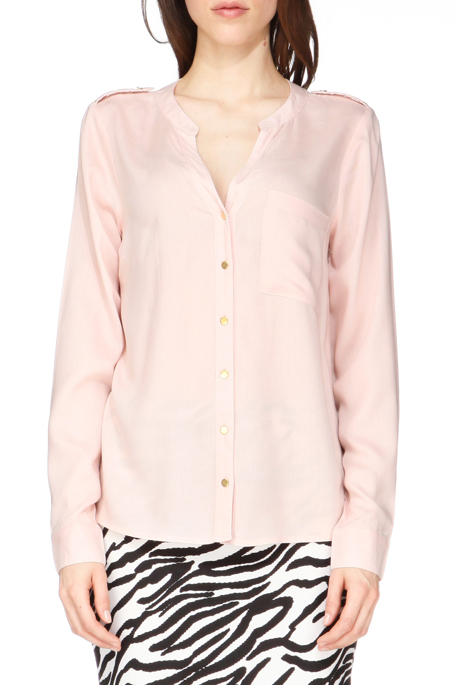 vero moda shirt blouse in pink lyst. Black Bedroom Furniture Sets. Home Design Ideas