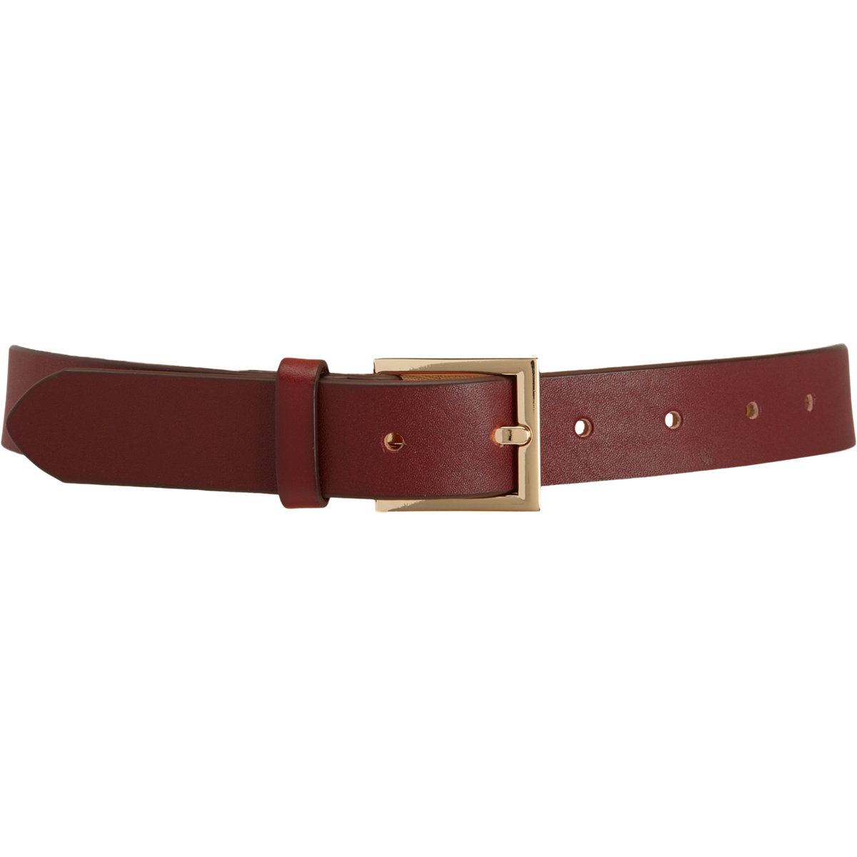 barneys new york leather belt in brown lyst