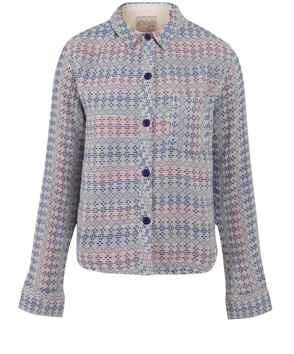 Lyst ace jig blue maker ditsy print shirt in blue for Blue print maker