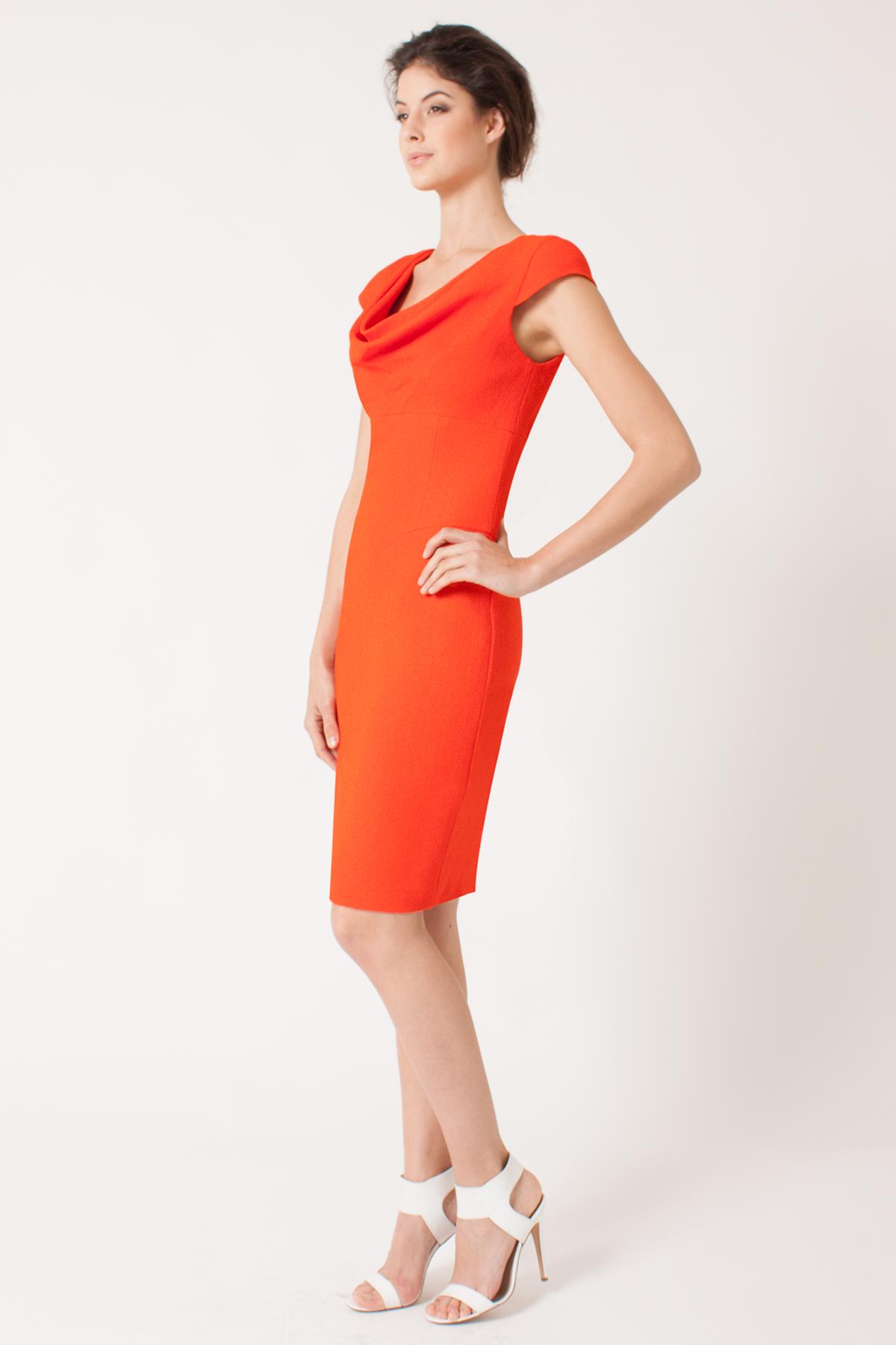 Lyst Black Halo Gretchen Dress In Orange