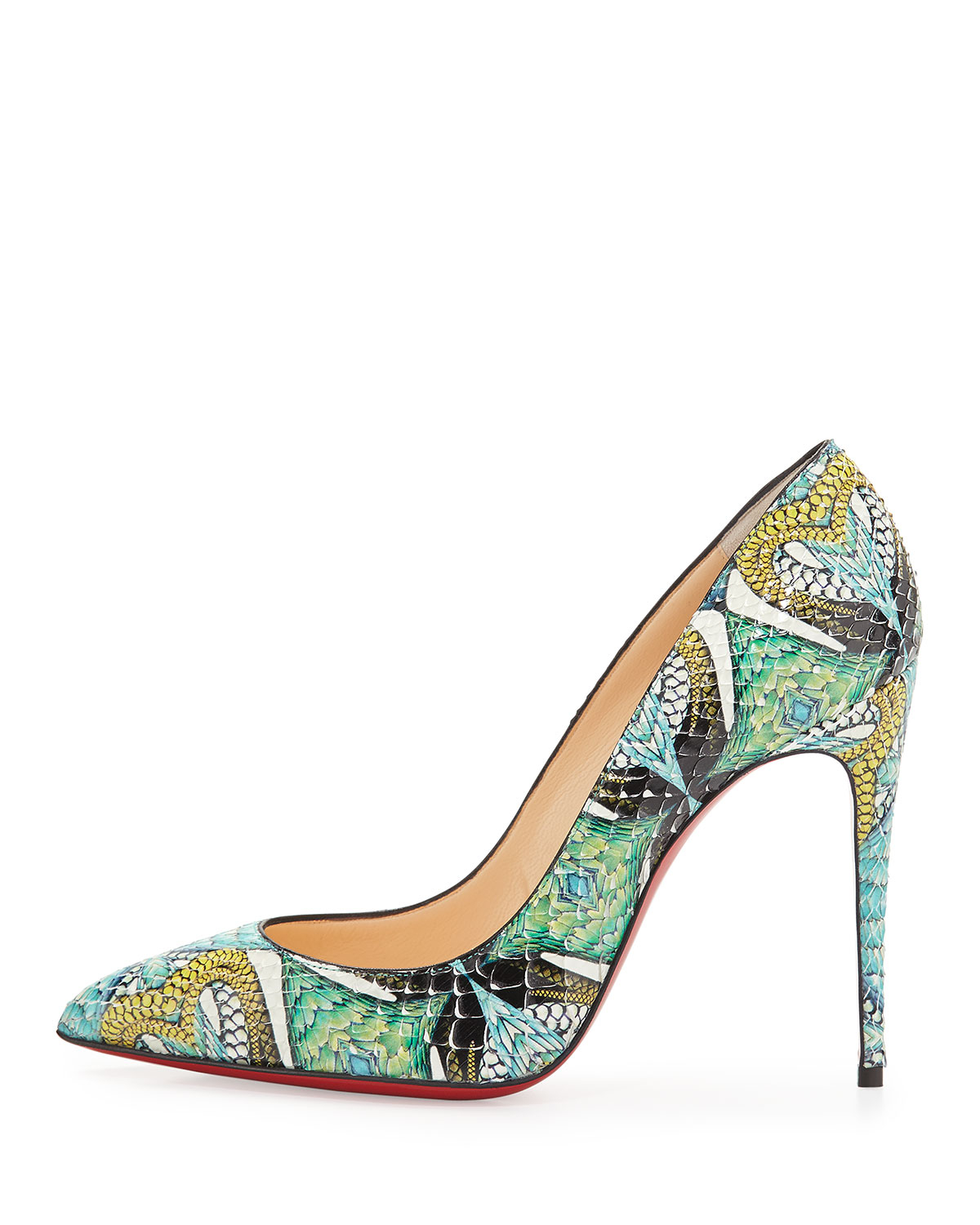 replicas shoes for men - christian louboutin pointed-toe So Kate pumps Green and multicolor ...