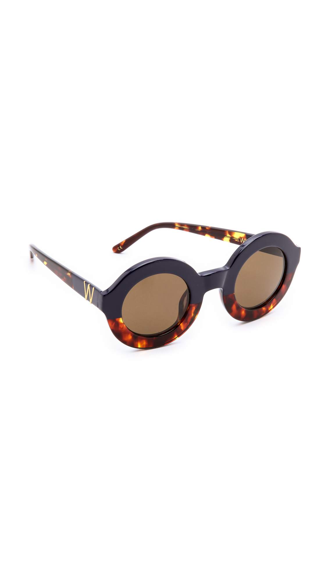 wildfox twiggy factory sunglasses black white in lyst